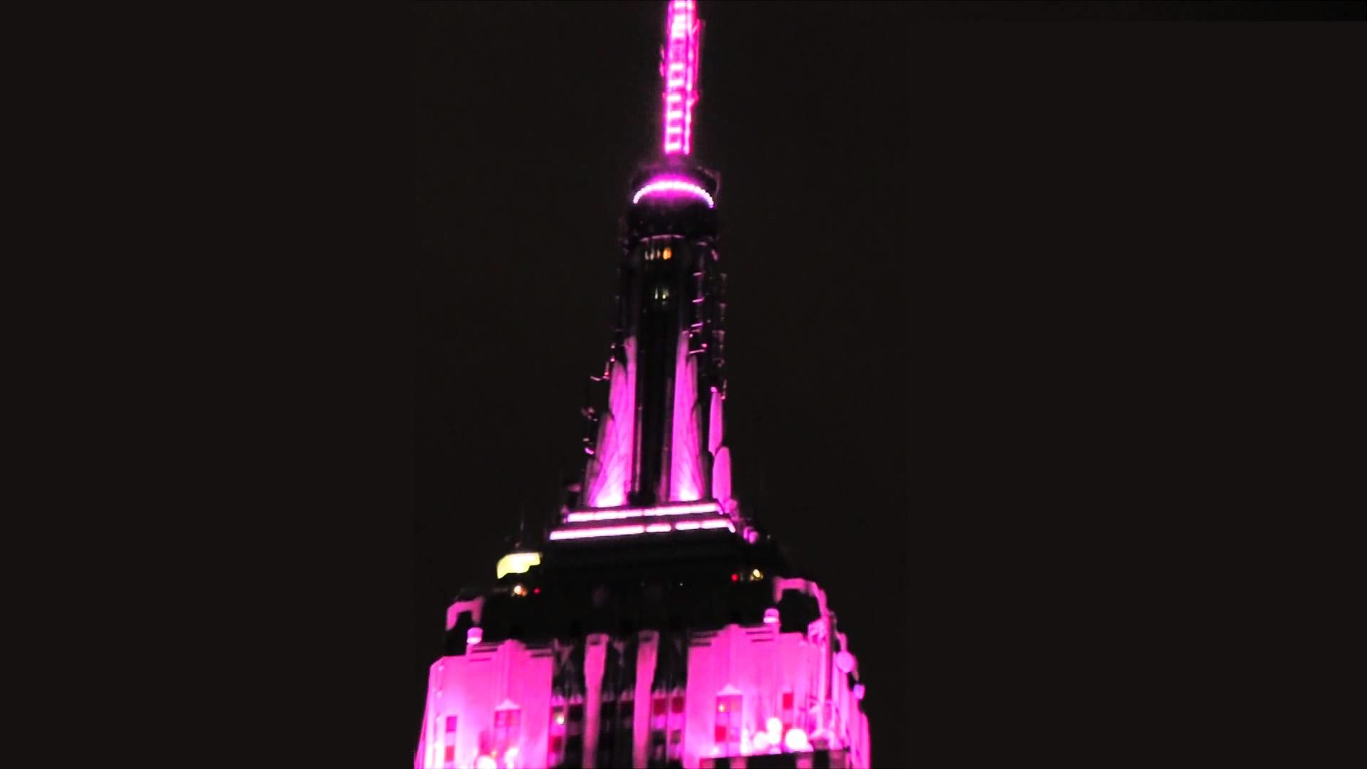 1920x1080 Empire State Building Lights for Estée Lauder's Breast Cancer Awareness  Campaign