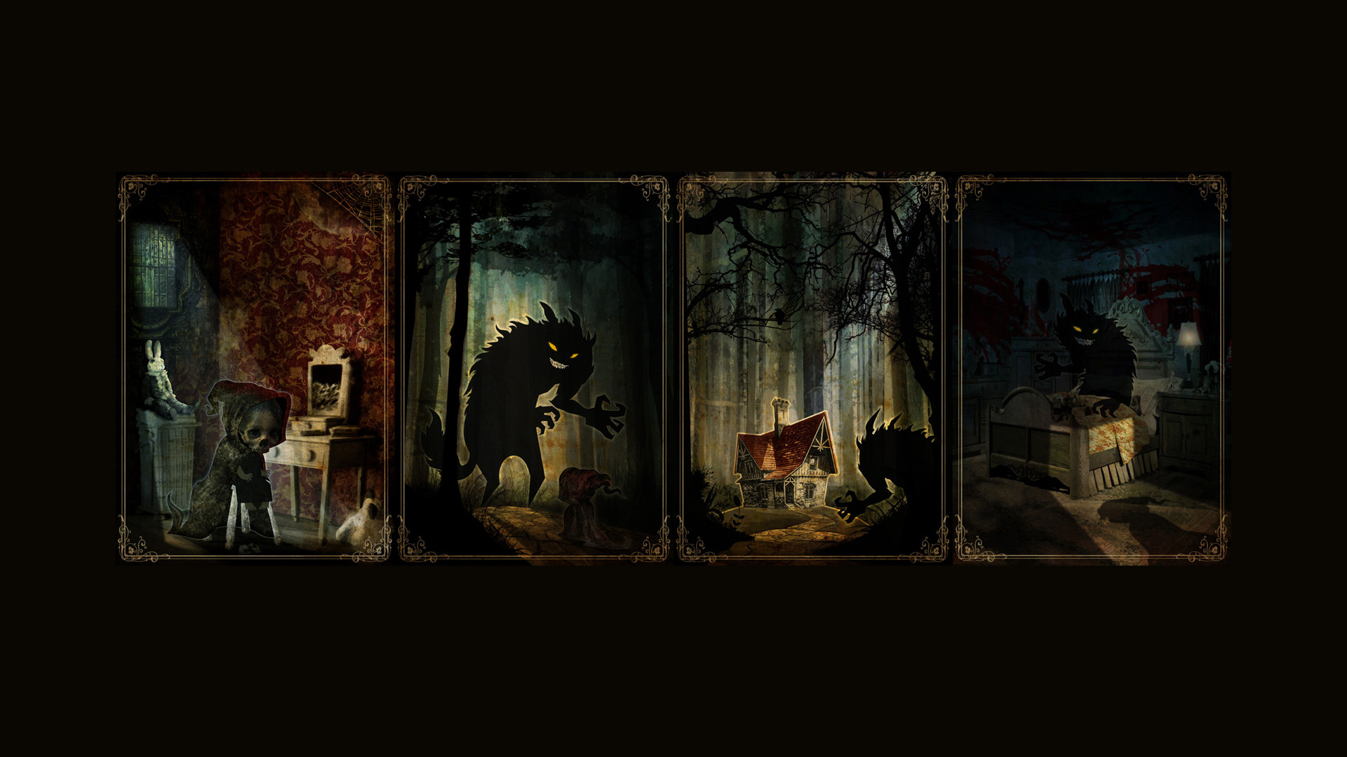 1920x1080 ... Top HD Wallpapers Collection of Little Red Riding Hood And The Wolf -   px, ...