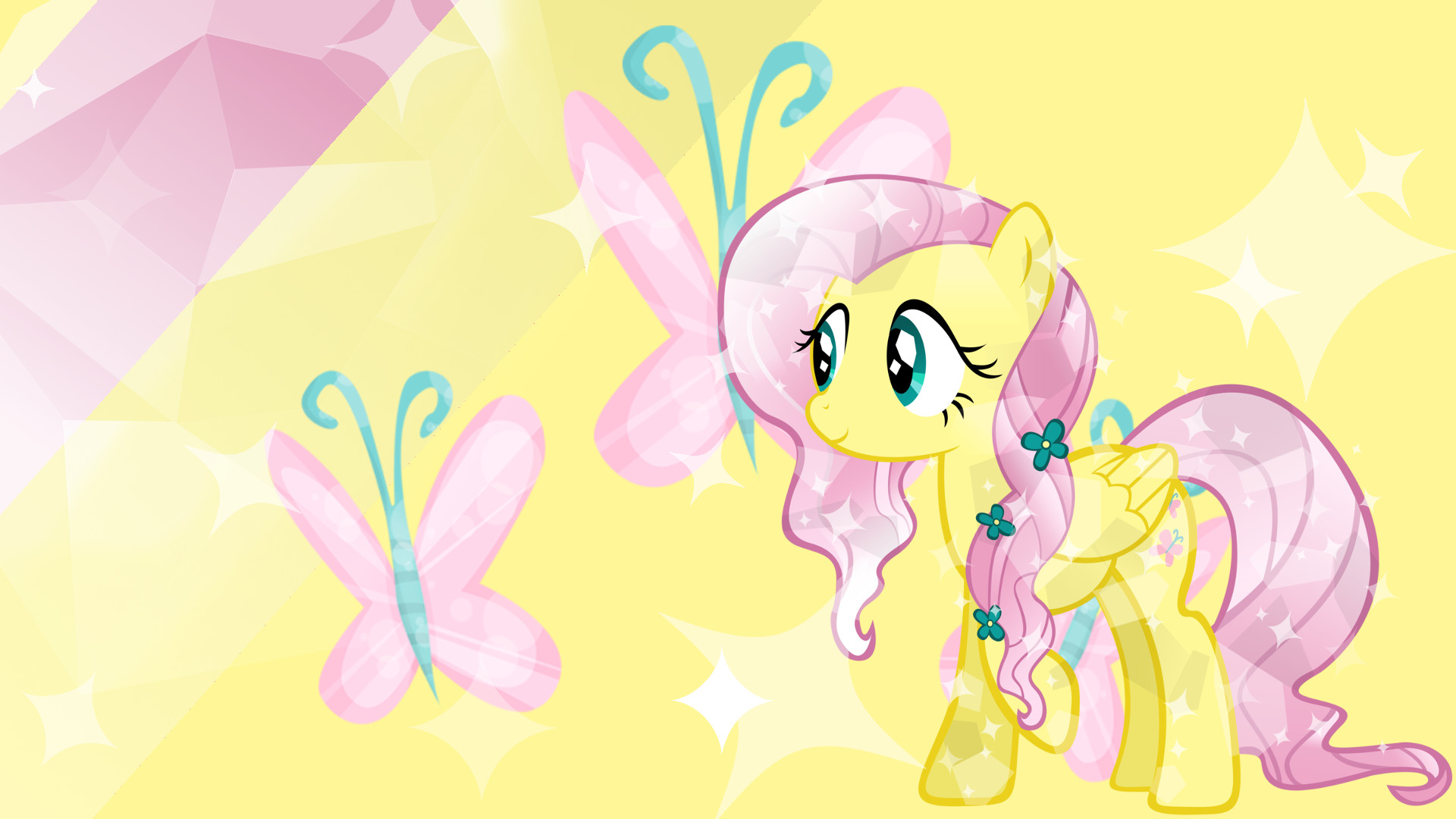 1920x1080 Made this for my friend Fluttershy Wallpaper 2