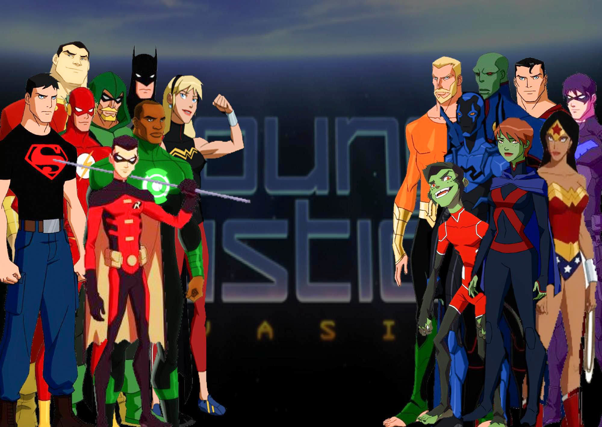 2000x1418 Young justice wallpaper