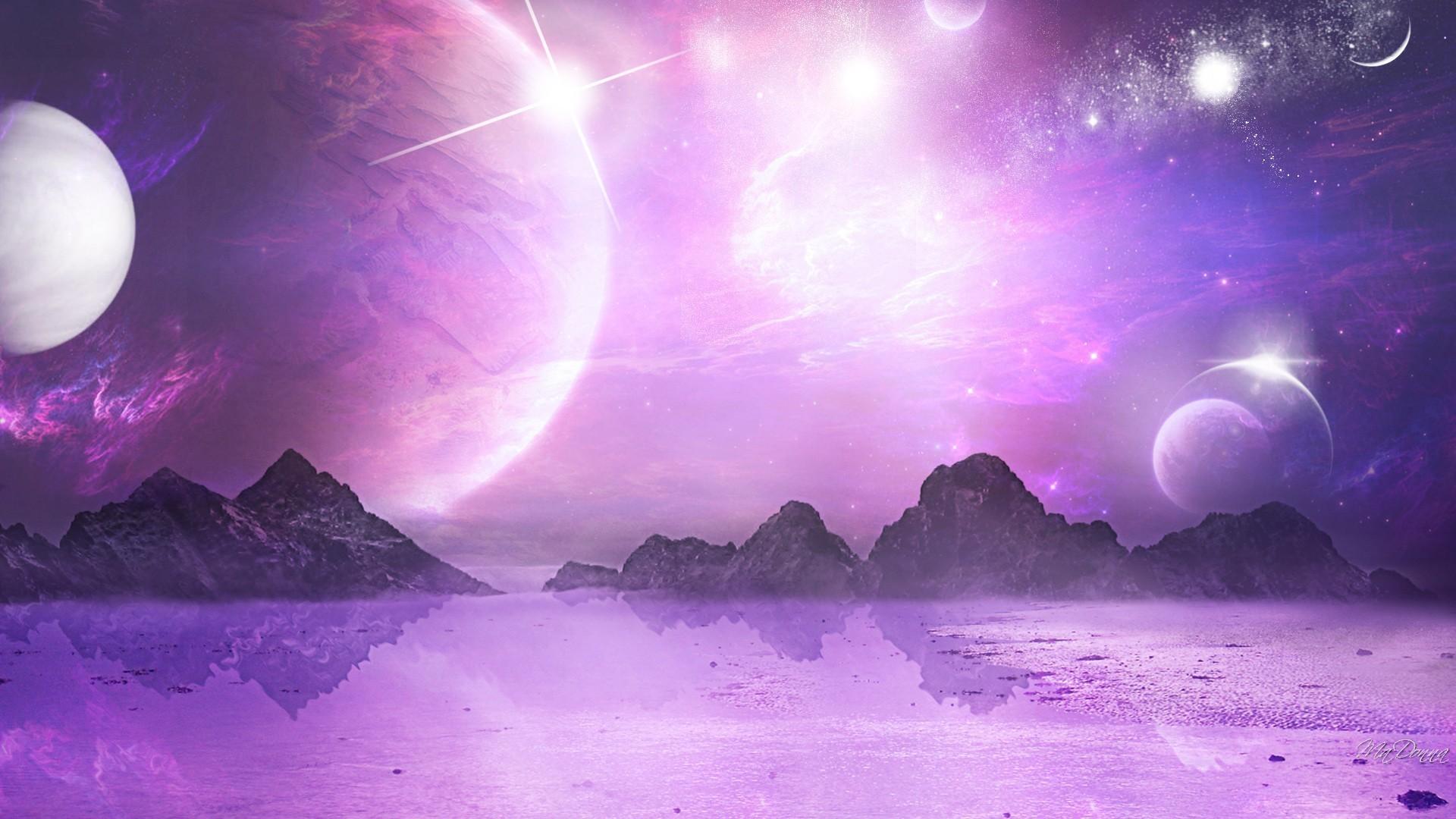 Moon and stars desktop wallpaper 63 images - Purple moon wallpaper ...