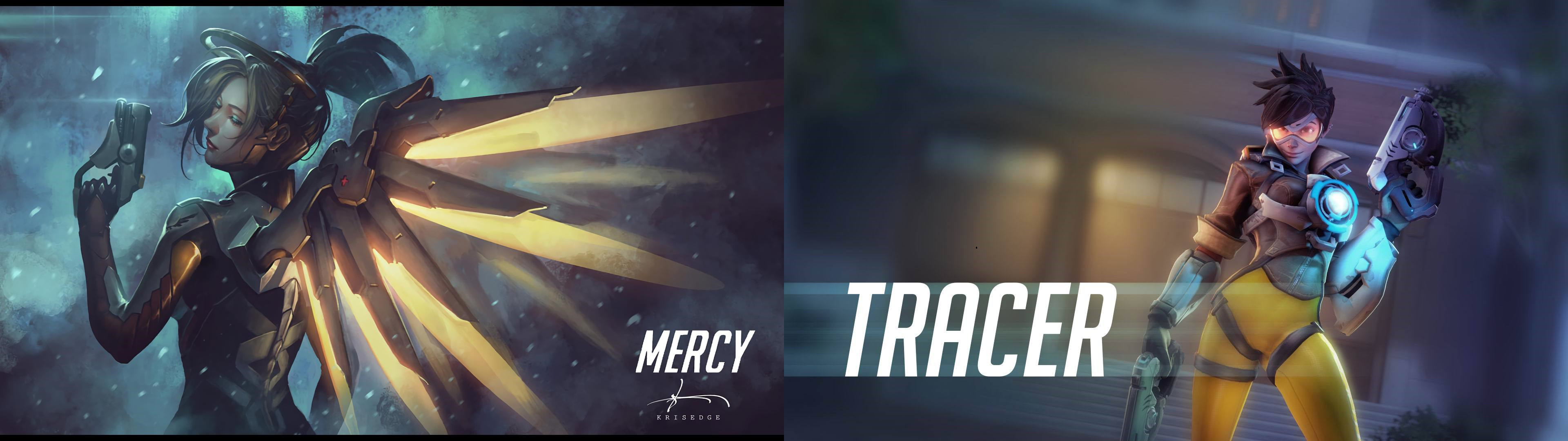 3840x1080 Mercyracer Dual Monitor Background by IDarkStalker Mercyracer Dual Monitor  Background by IDarkStalker
