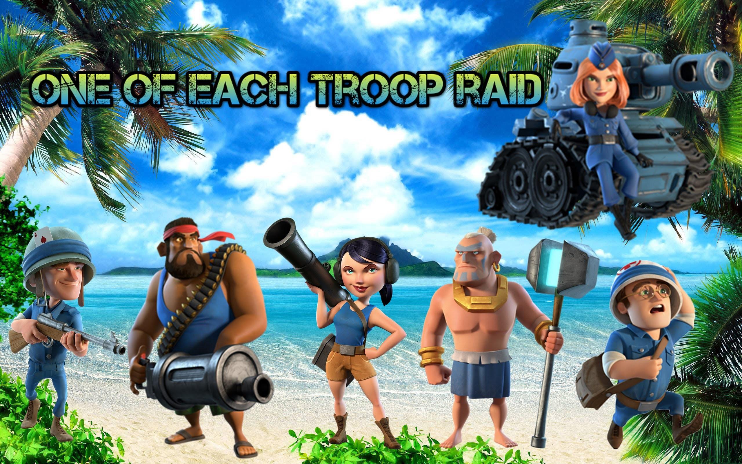 boom beach one of every troop raid epic ending