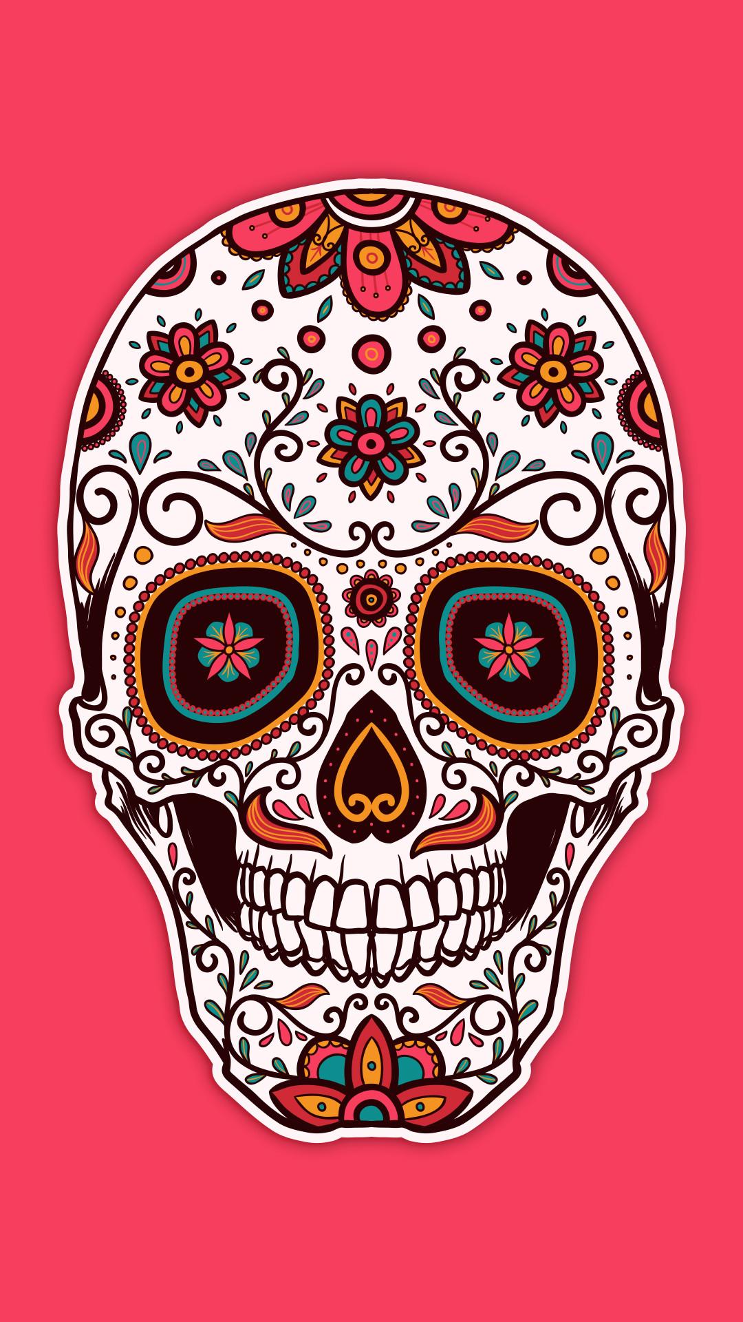 Sugar skull wallpapers 60 images - Sugar skull background ...