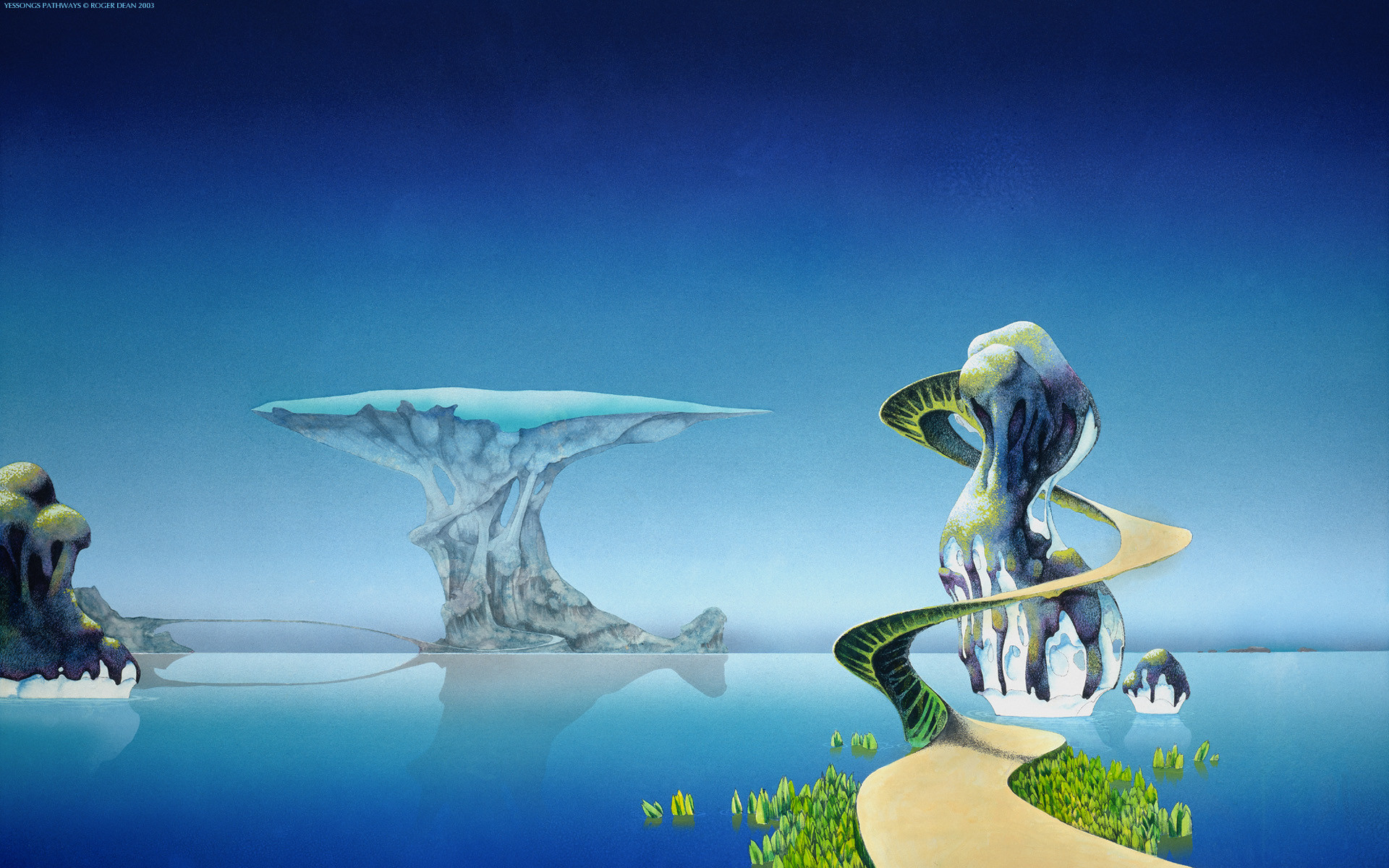 1920x1200 Music Wallpaper  Water Music Path Spiral Roger Dean