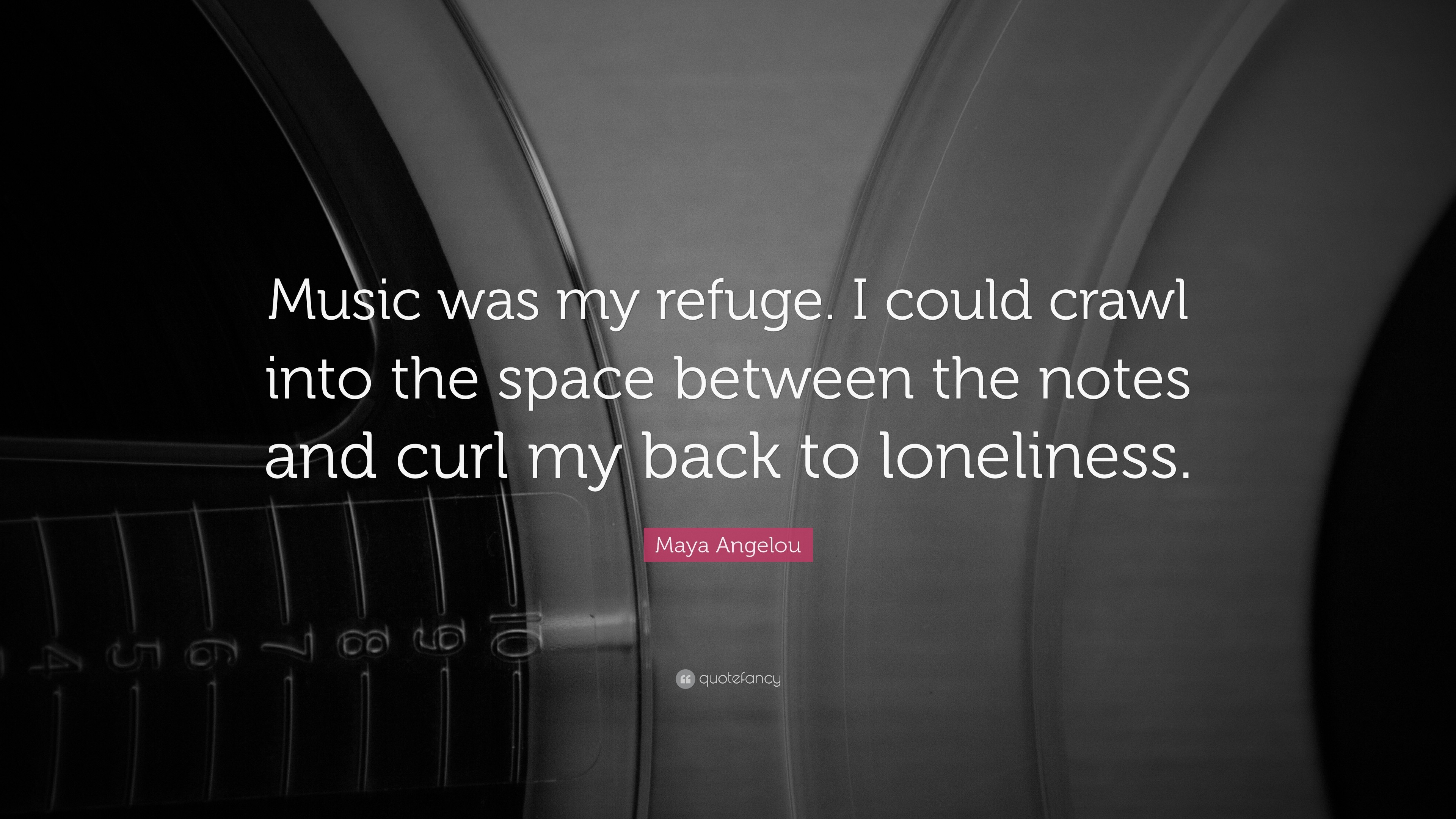 "3840x2160 Music Quotes: ""Music was my refuge. I could crawl into the space between"