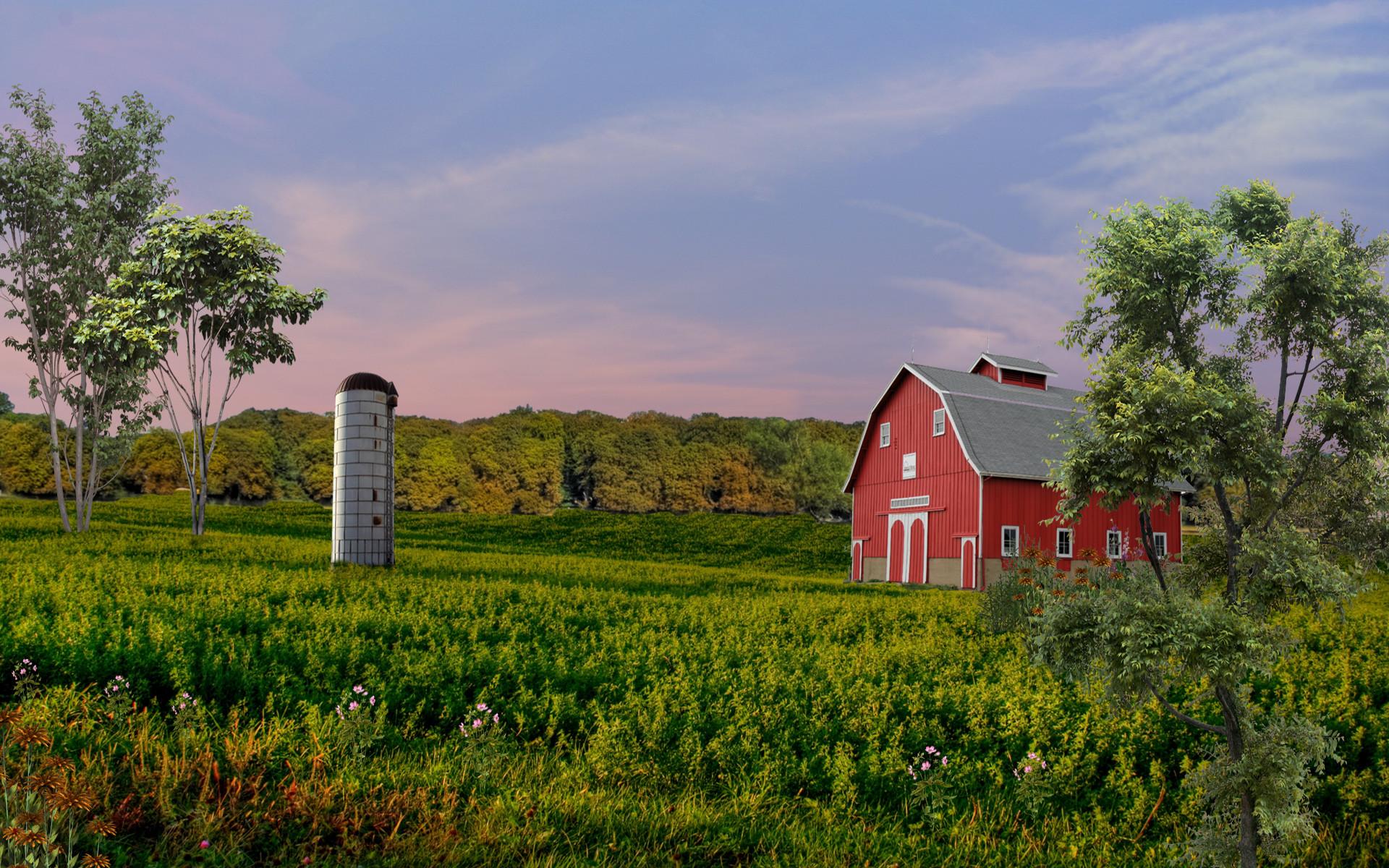 Farm Scene Wallpaper 37 Images