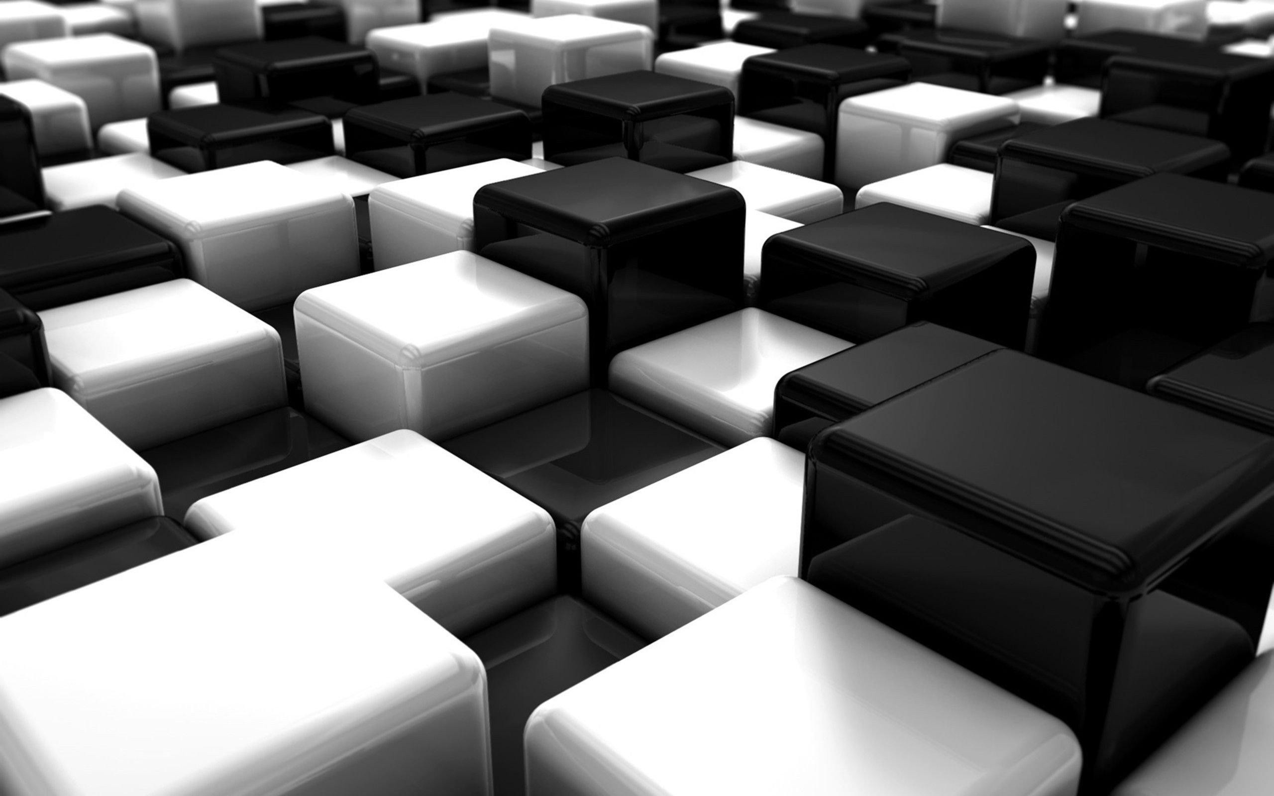 2560x1600 awesome abstract black white blocks cubes digital art hd resolution  wallpaper