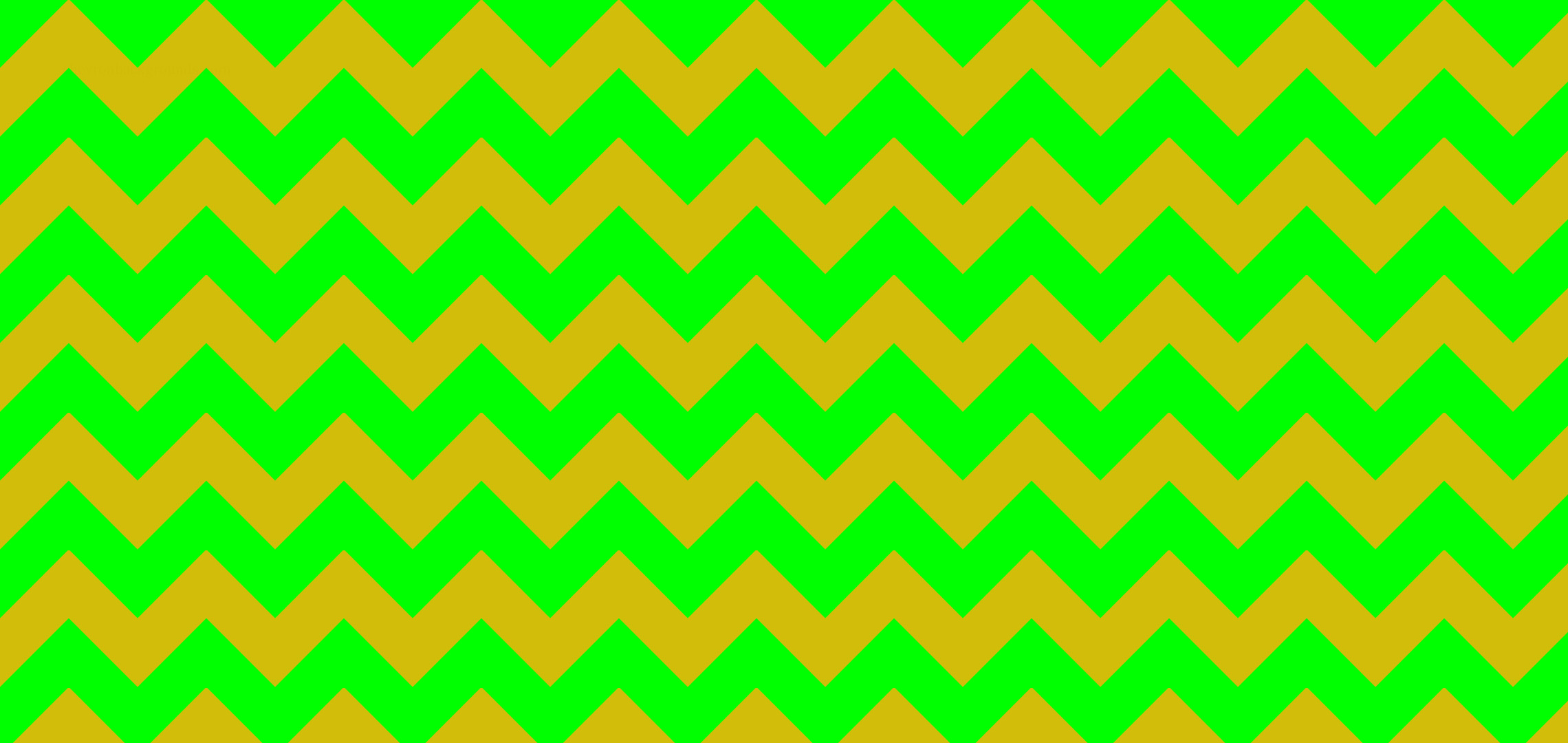 2280x1080 #00FF00 Light Lime Green #D2BD0A Mustard Yellow Chevron Stripes Background