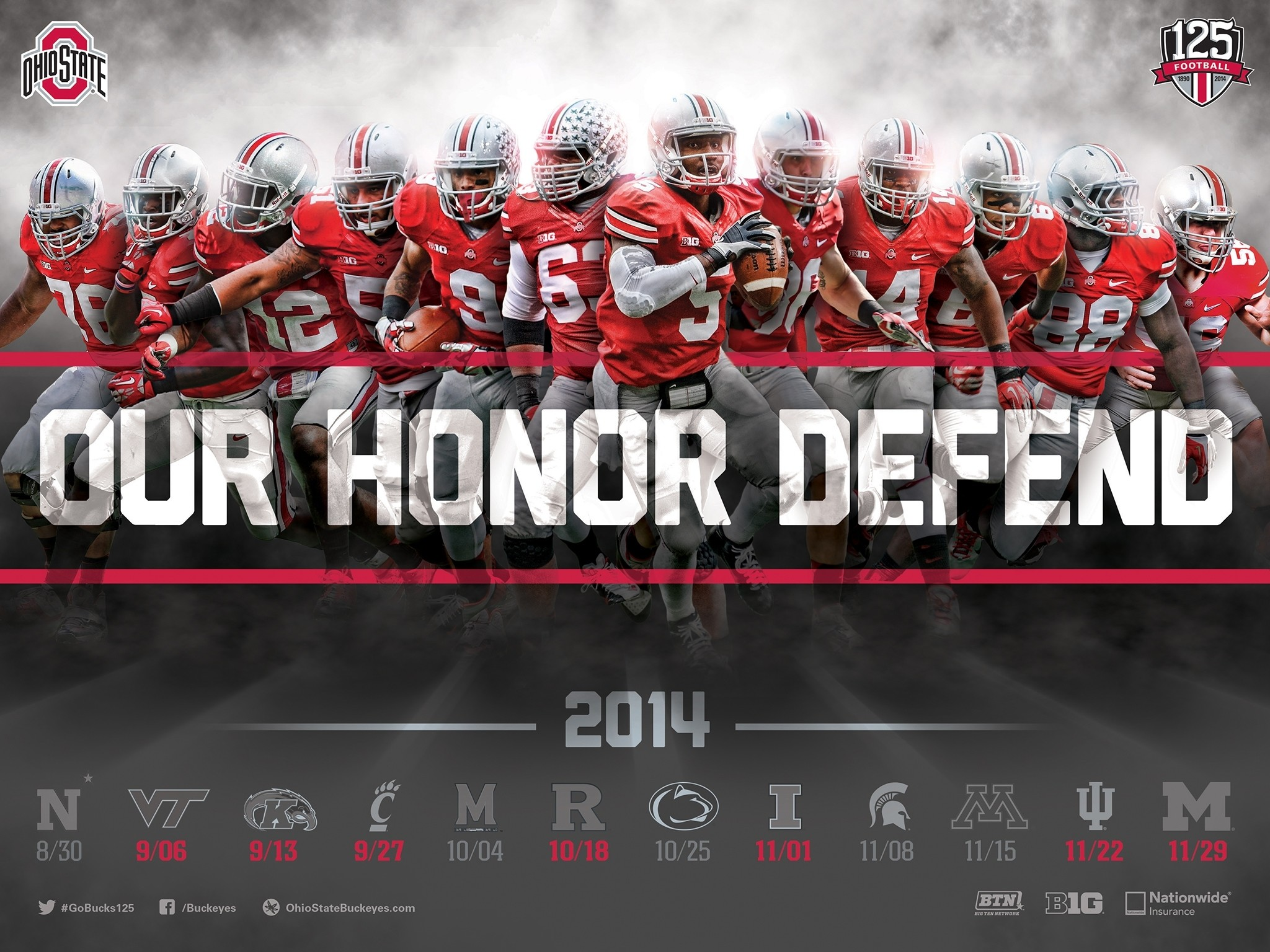 2048x1536 Title : download the ohio state football 2014 schedule poster for printing.  Dimension : 2048 x 1536. File Type : JPG/JPEG