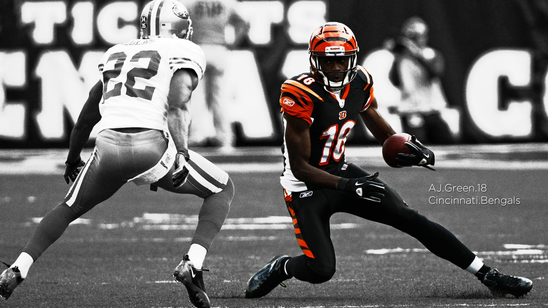 1920x1080 football americain wallpaper american football nfl selective coloring san  francisco 49ers cincinnati bengals aj green 49ers hd wallpapers