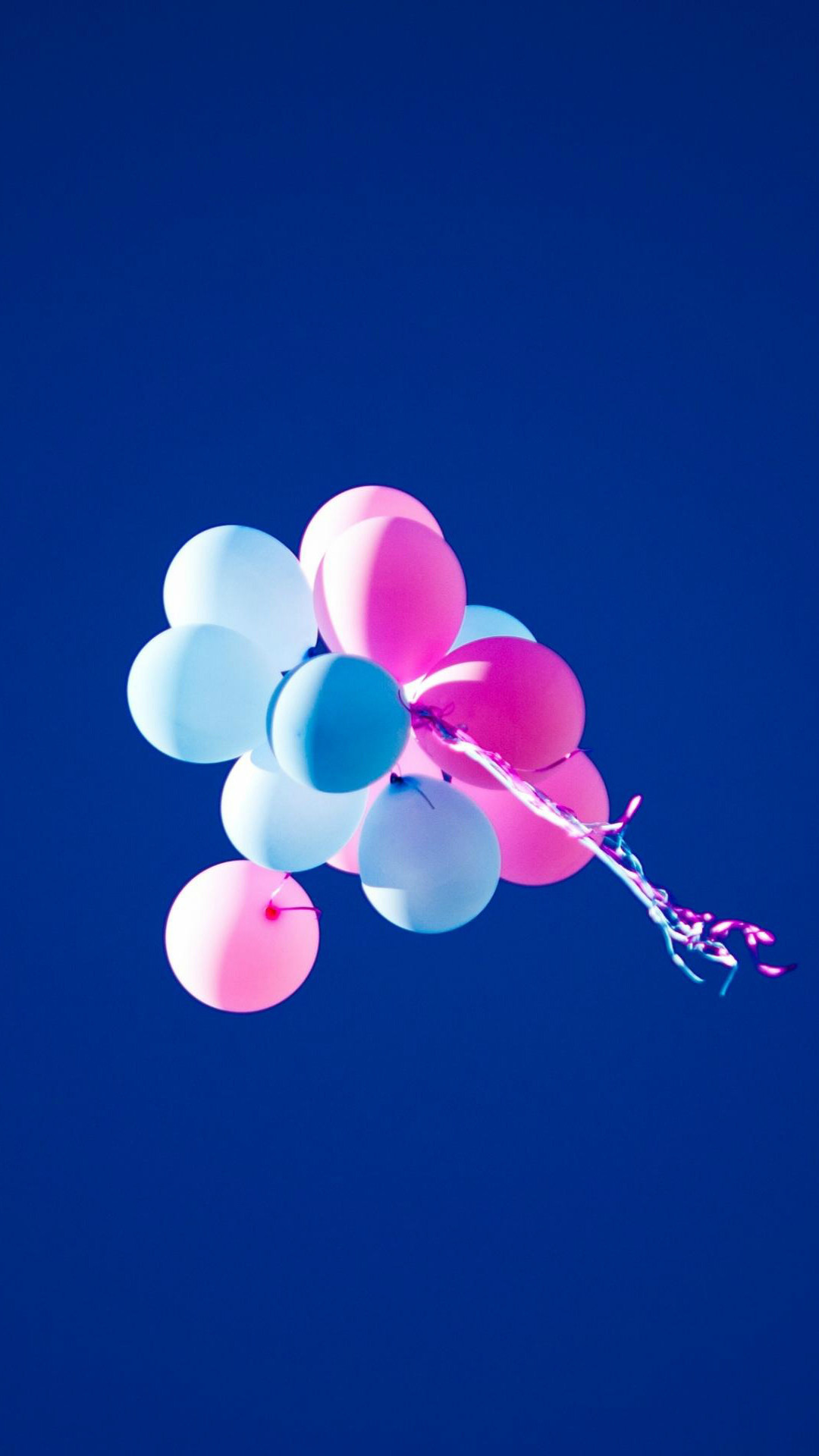 1080x1920 Flying Balloons In Blue Sky iPhone 8 wallpaper