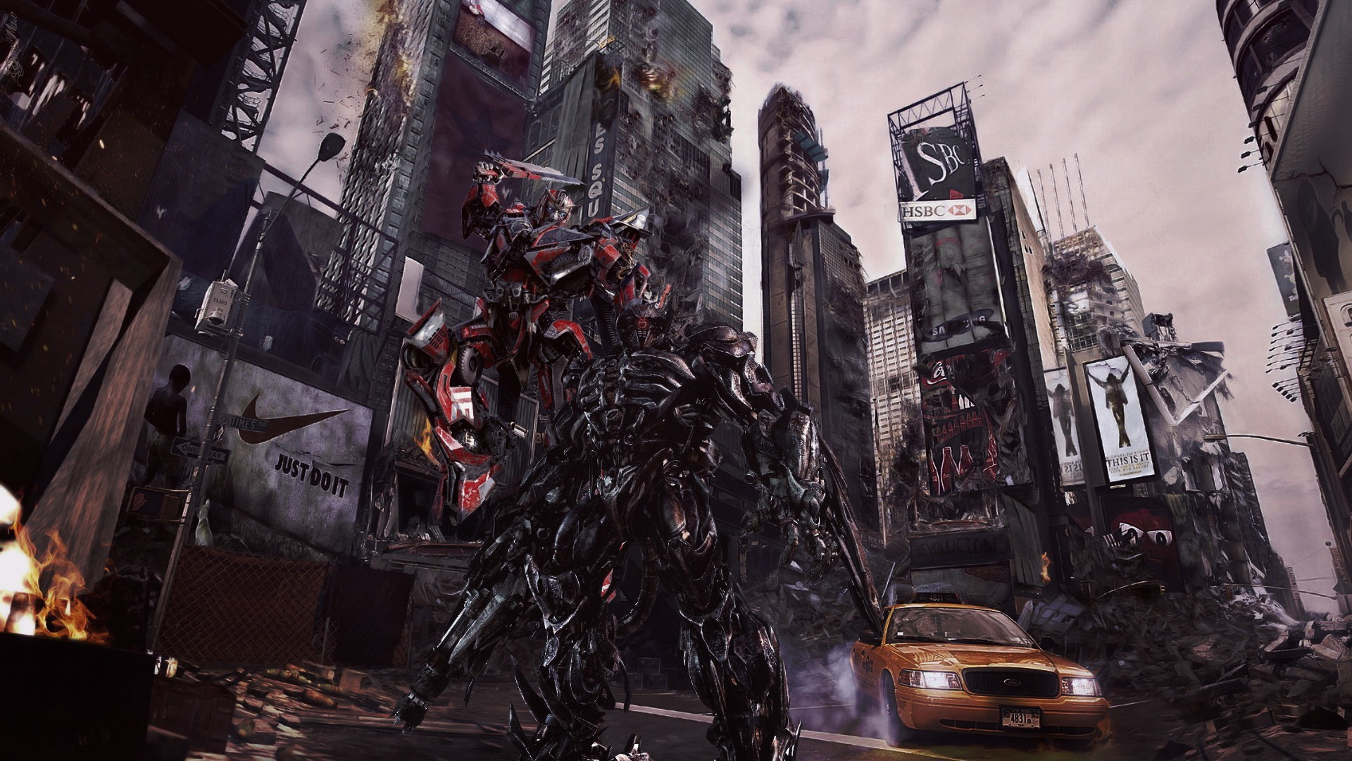 1920x1080 ruins movies futuristic shockwave Transformers 3 - Dark of the Moon  Sentinel Prime - Wallpaper (