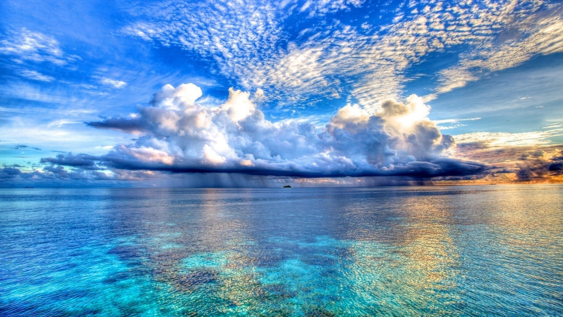 1920x1080 Ocean cloud Wallpaper