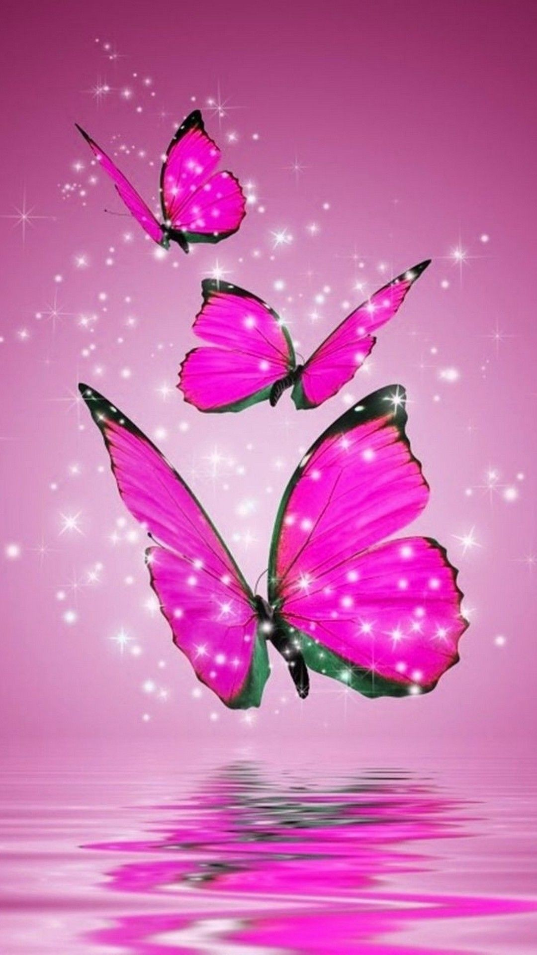 Pink Butterfly Wallpaper 69 Images