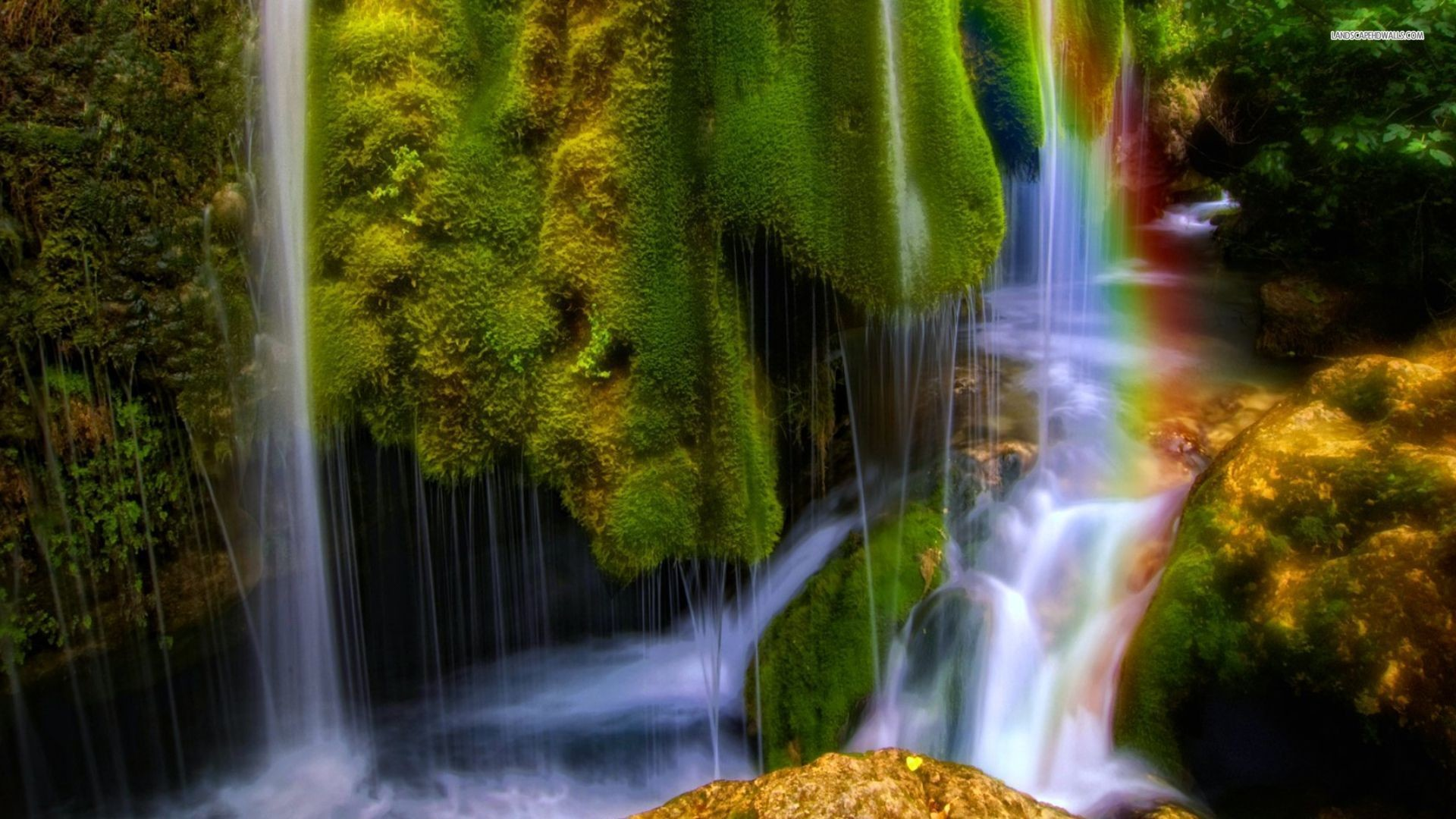 1920x1080 Waterfall And Rainbow Wallpapers Full Hd