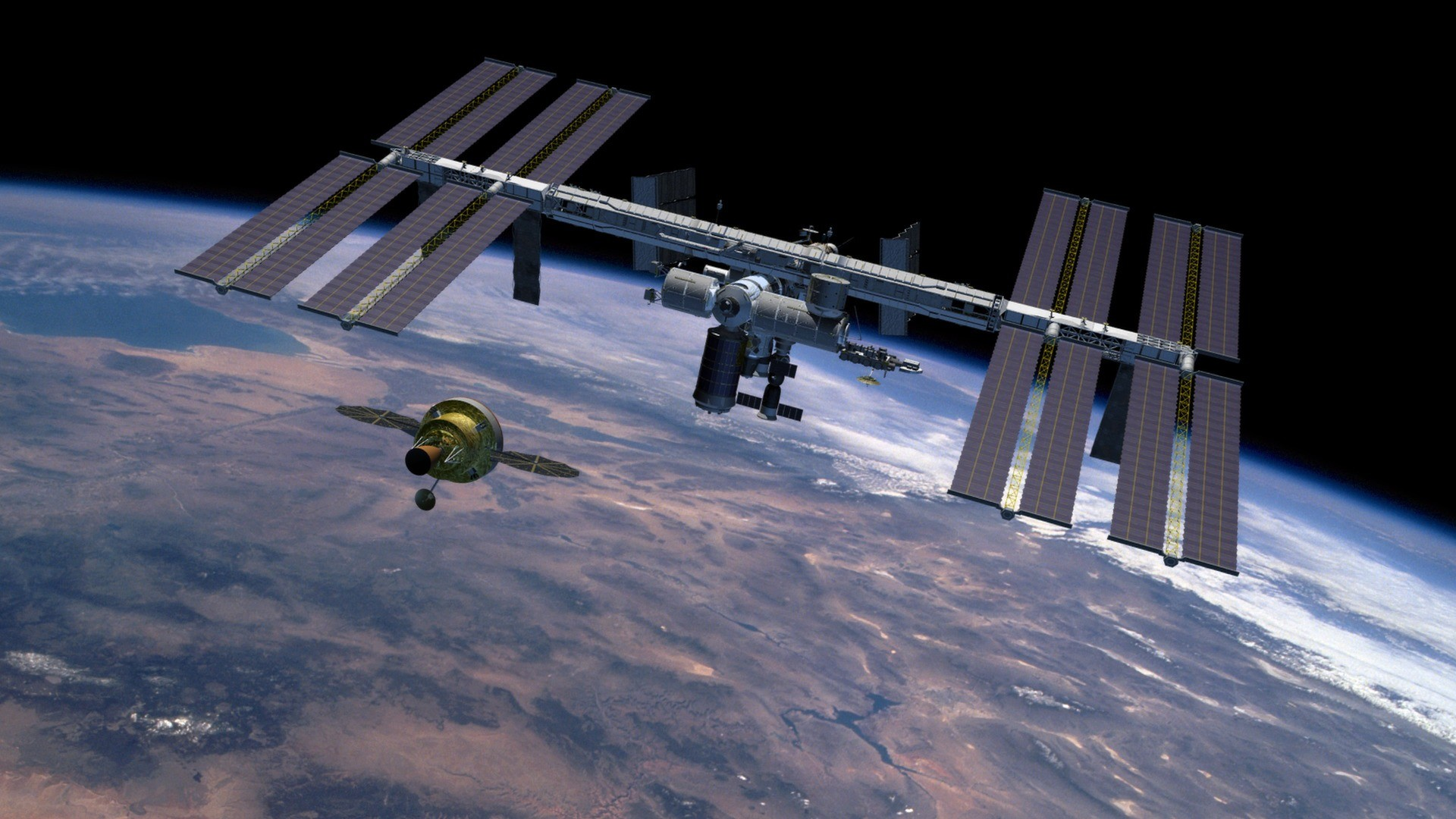 1920x1080 Nasa Orion Crew Exploration Vehicle. international space station ...