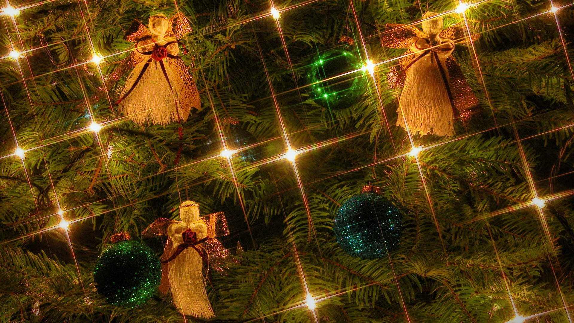 1920x1080 free, christmas, easyworship, backgrounds, tree, angels, ordements, lights