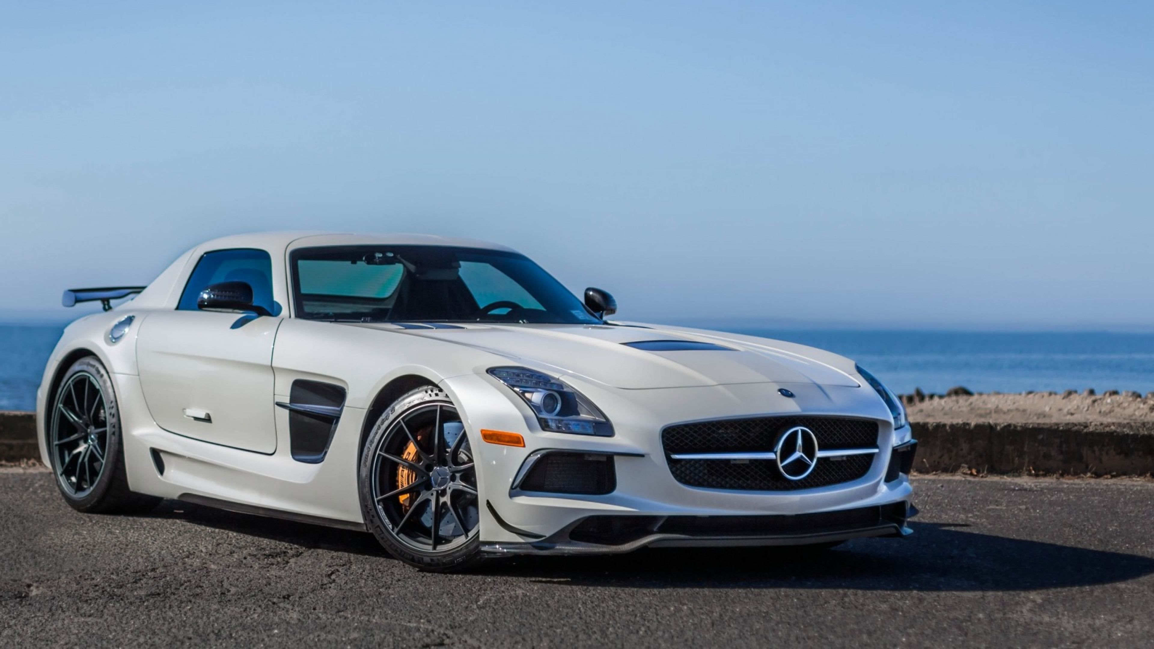3840x2160  Wallpaper mercedes-benz, sls, amg, black series