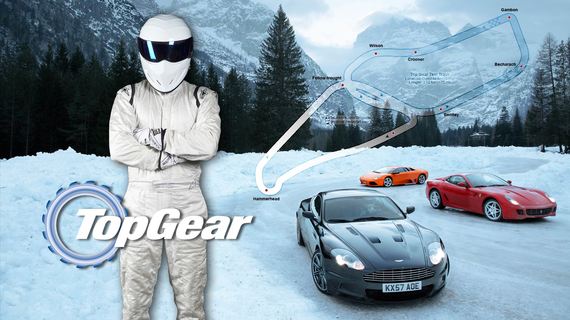 1920x1080 Stig Supercars Snow Top Gear Wallpaper - Image #3550 -