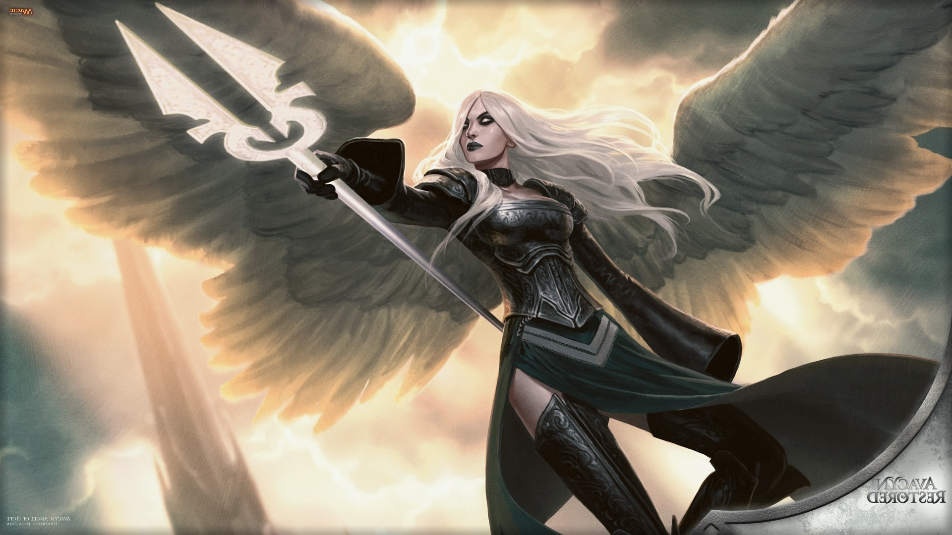 1920x1080 fantasy Art, Angel, Magic: The Gathering Wallpapers HD / Desktop and Mobile  Backgrounds