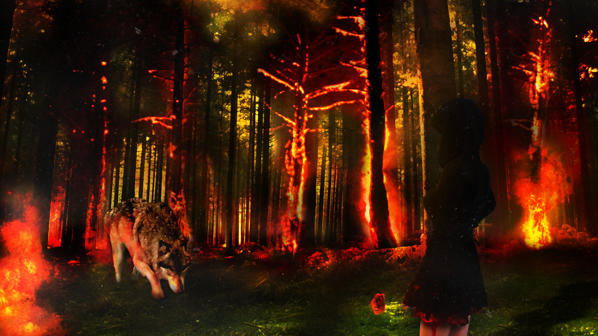 Nevada Wolf Pack Wallpaper: Fire Wolf Wallpaper (61+ Images
