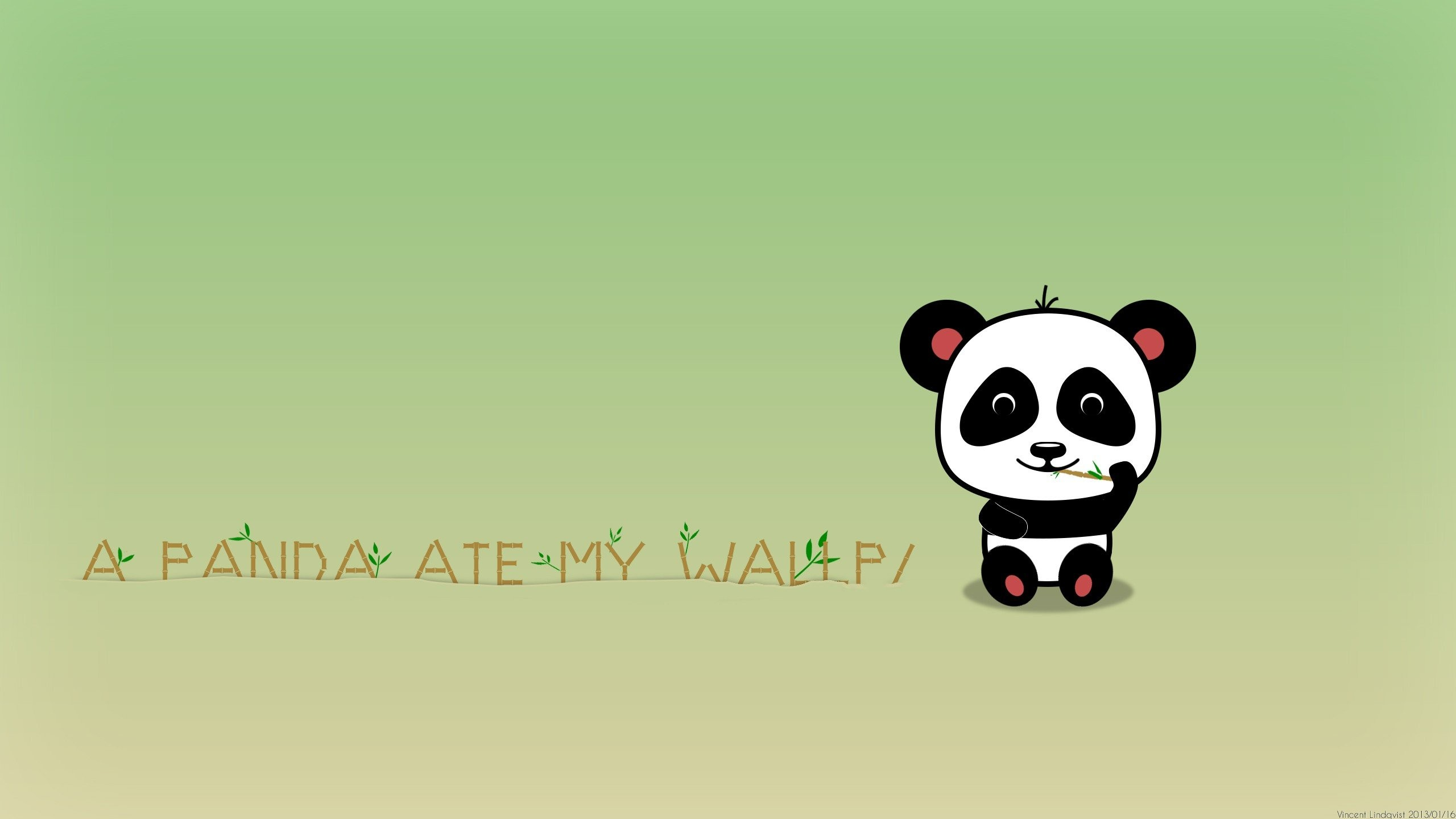 2560x1440 minimalistic bamboo panda bears simple background wallpaper background