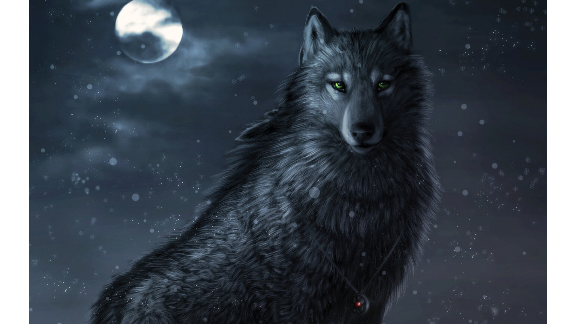 1920x1080 Animated Wolf -  - 470392
