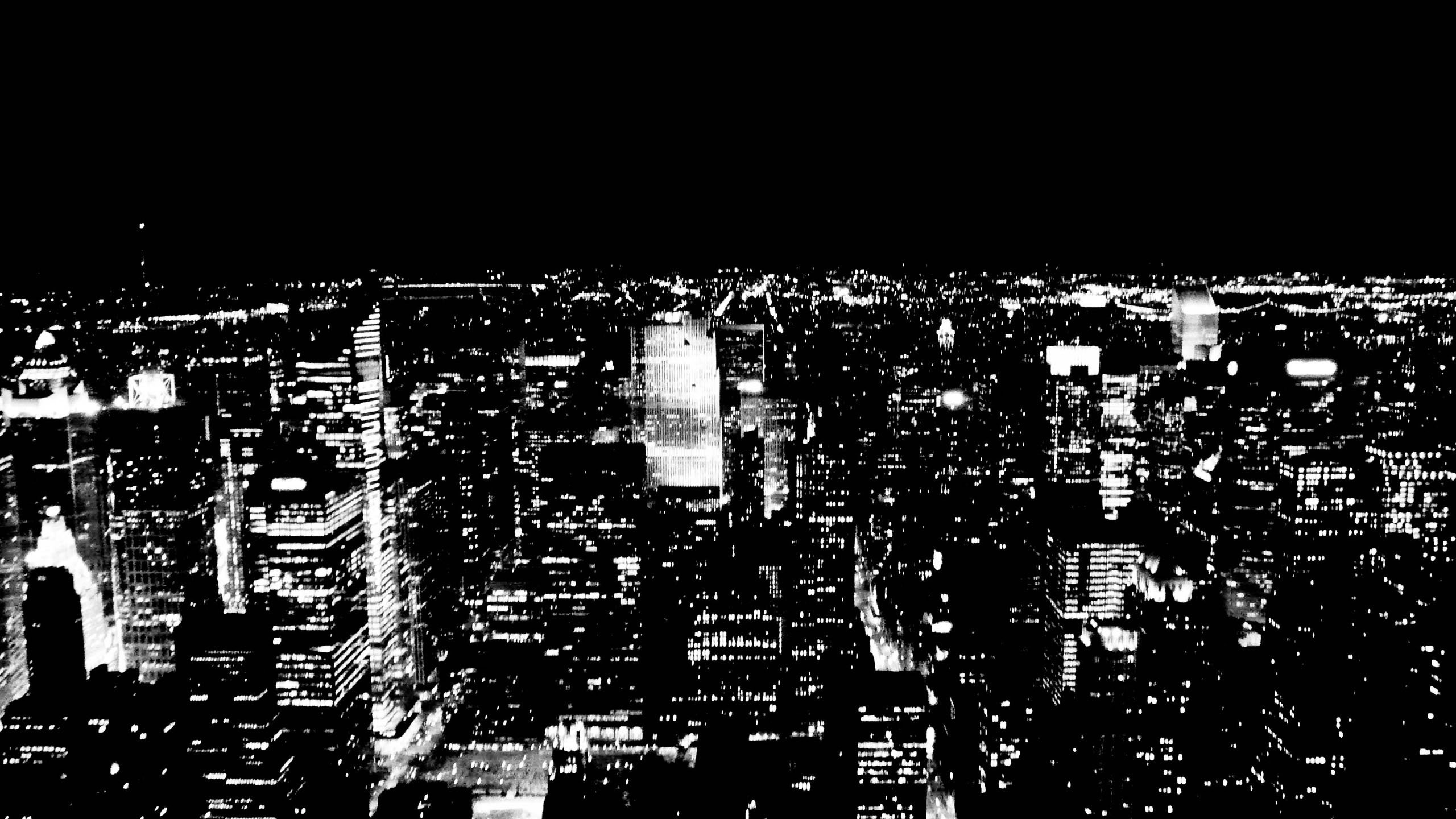 2560x1440 ... wallpaper widescreen high; new york city black and white 843025  walldevil ...