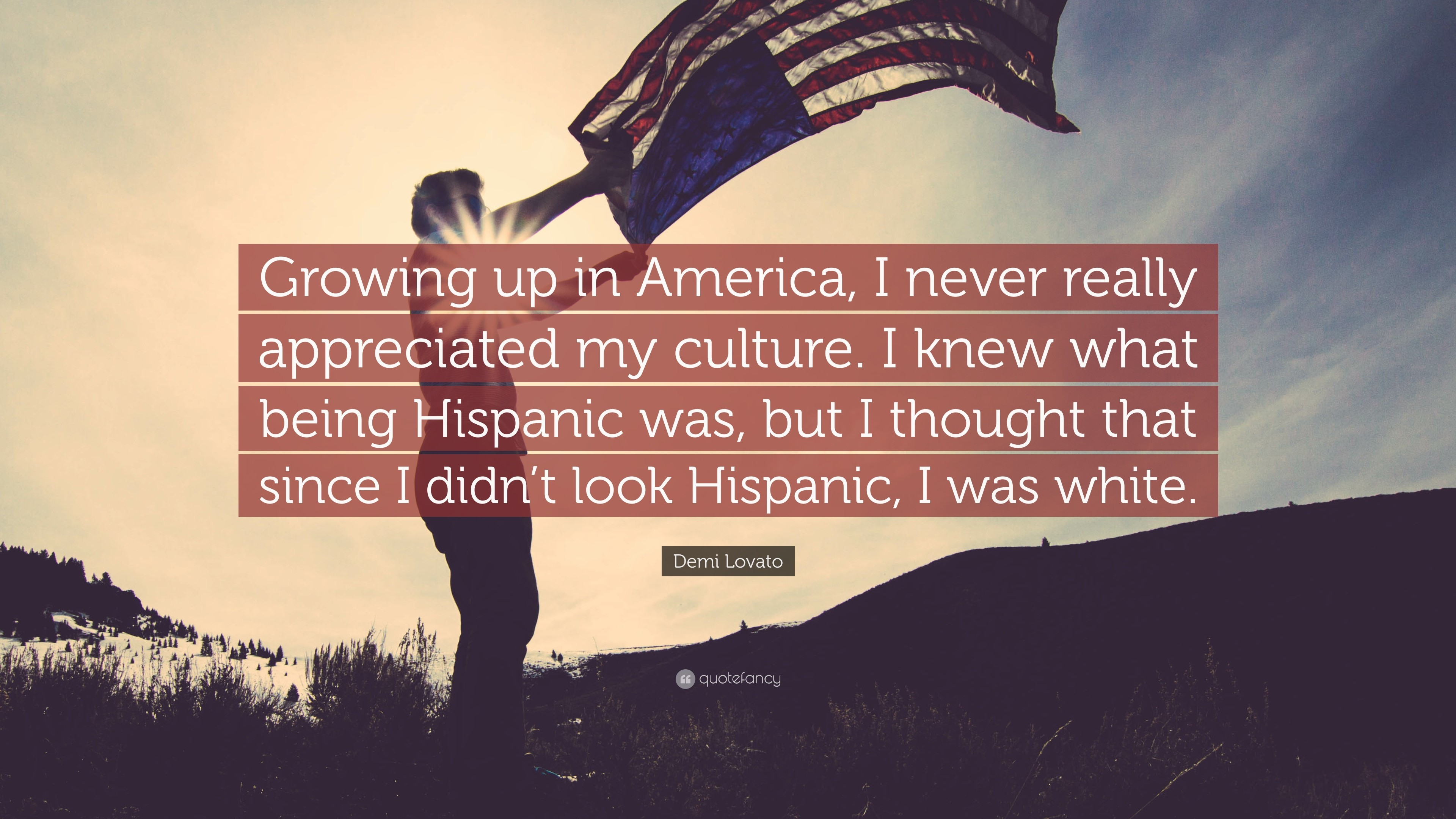 "3840x2160 Demi Lovato Quote: ""Growing up in America, I never really appreciated my  culture"