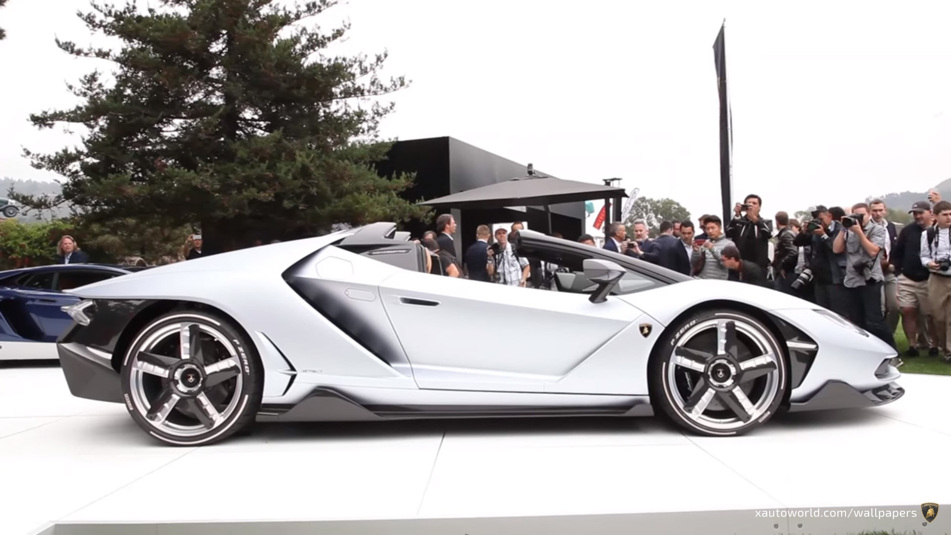 1920x1080 ... Centenario Roadster Wallpaper - Silver Side View