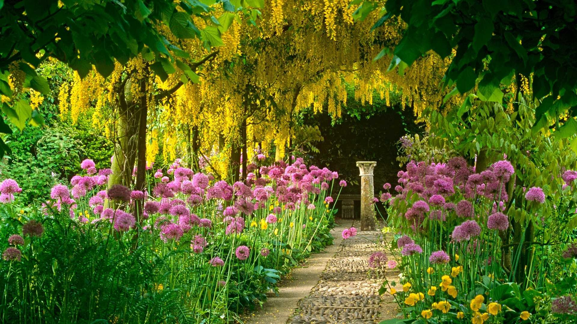 1920x1080 Flower Garden Hd Collection Of Beautiful Gardens With Best Flowers In A  Inspirations Wallpaper Download Best