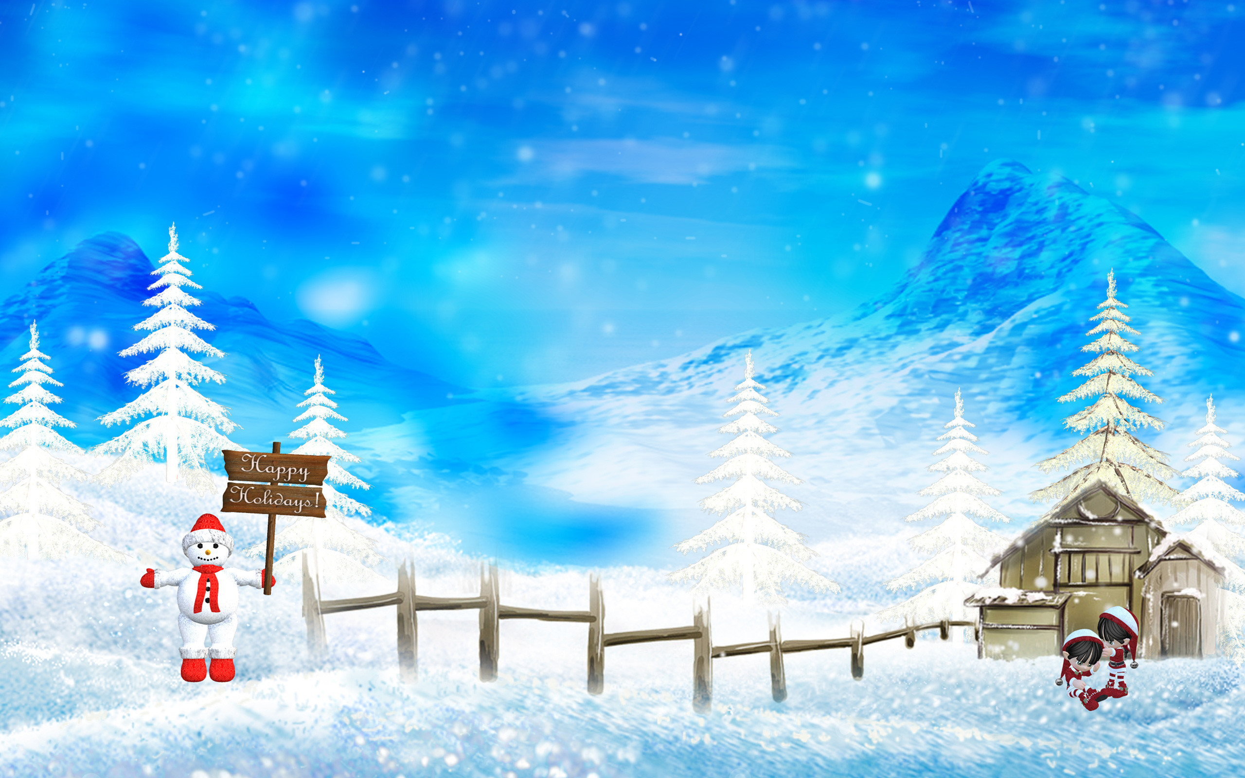 Christmas Snow Wallpaper Scenes 38 Images