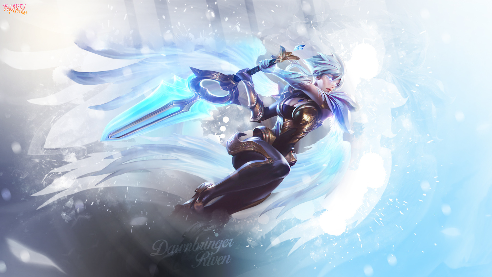 1920x1080 Dawnbringer Riven by Massi001 HD Wallpaper Background Fan Artwork League of  Legends lol