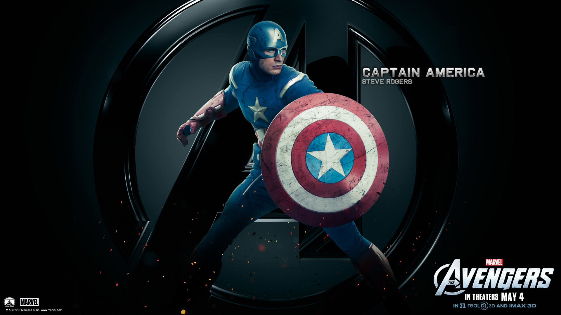 1920x1080 Marvel-The-Avengers-Movie-2012-HD-Wallpaper-Captain-