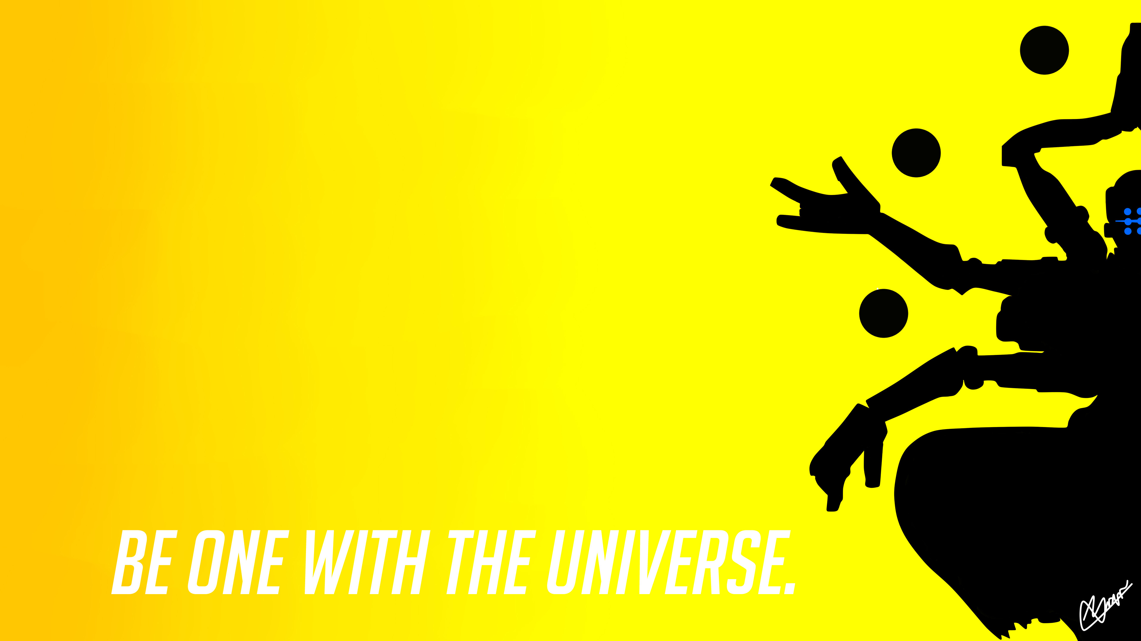 3840x2160 Minimalist Wallpaper Of Zenyatta by KorvoZ Minimalist Wallpaper Of Zenyatta  by KorvoZ