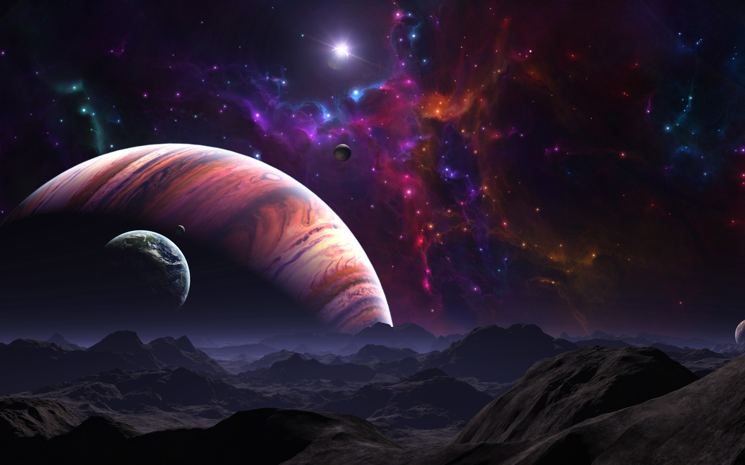 3 d space wallpaper  3D Outer Space Wallpaper (67  images)