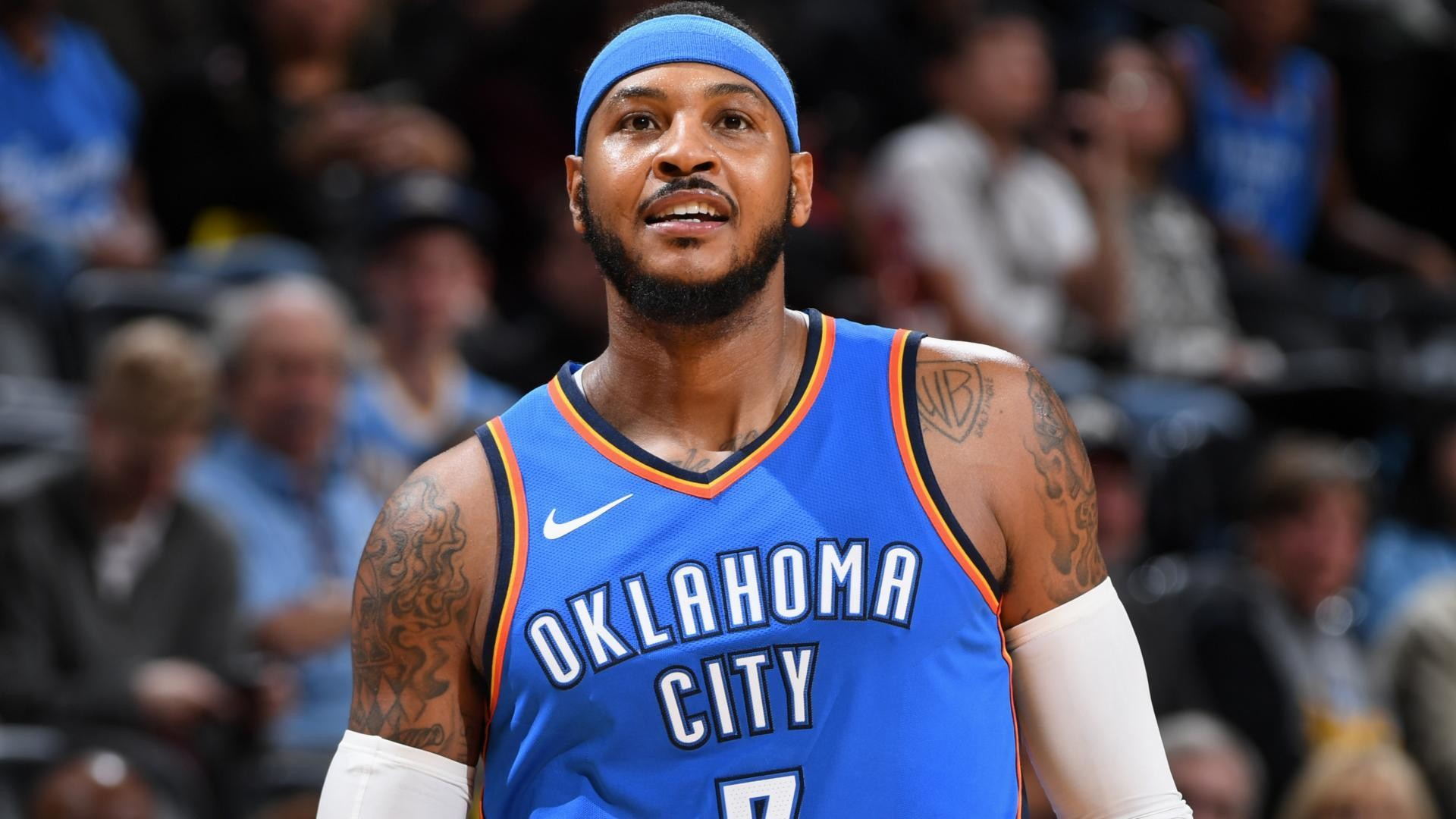 1920x1080 Blogtable: Would the Oklahoma City Thunder benefit from shifting Carmelo  Anthony into a bench role?
