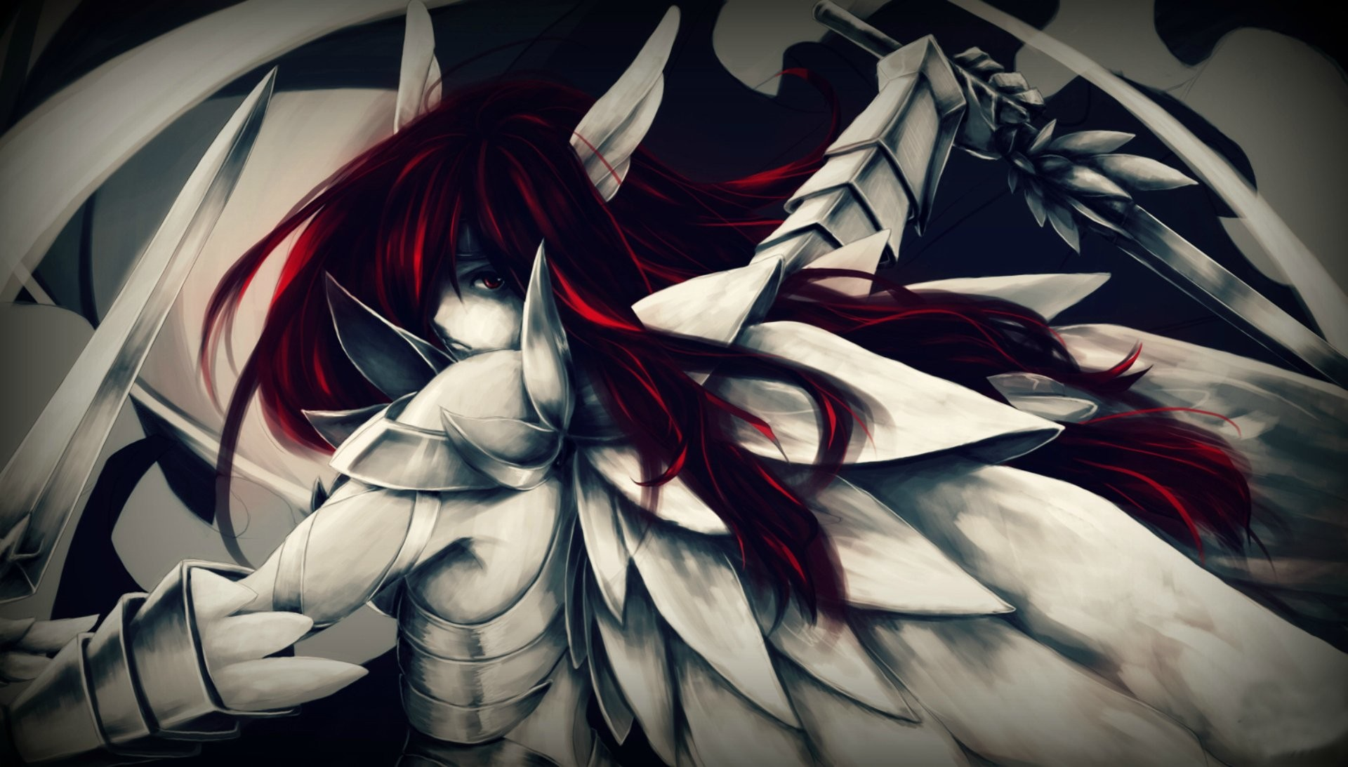 1920x1093 Anime - Fairy Tail Erza Scarlet Armor Red Hair Long Hair Schwert Wallpaper