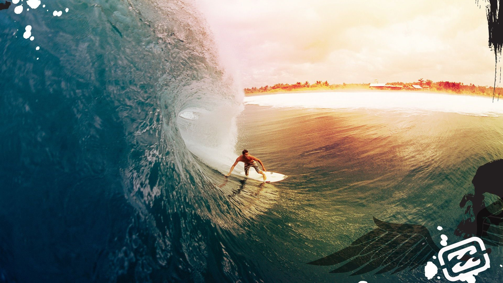 1920x1080 Surfer surfing 1080p Full HD desktop background