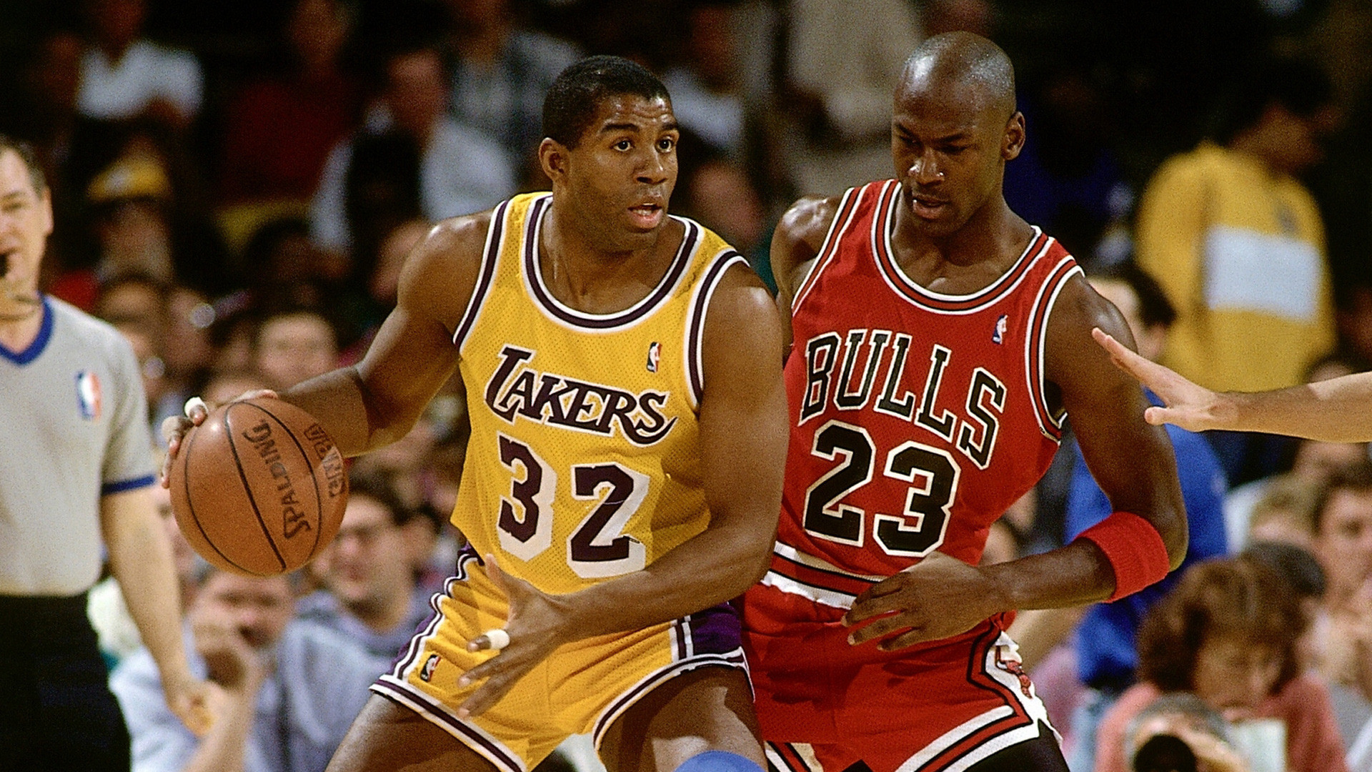 1920x1080 Magic Johnson Michael Jordan