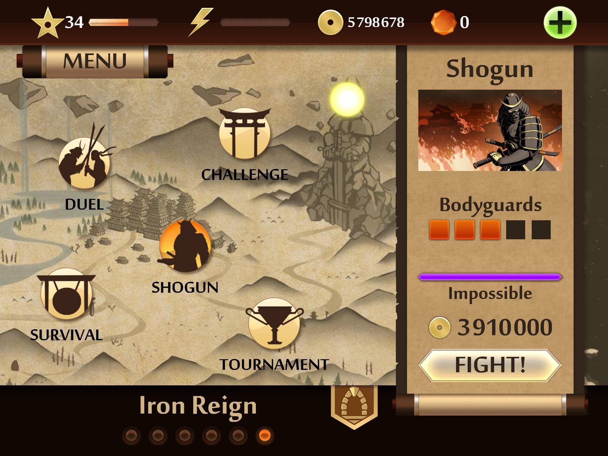 Shadow Fight 2 Shogun Wallpaper - Best Wallpaper Foto In 2019