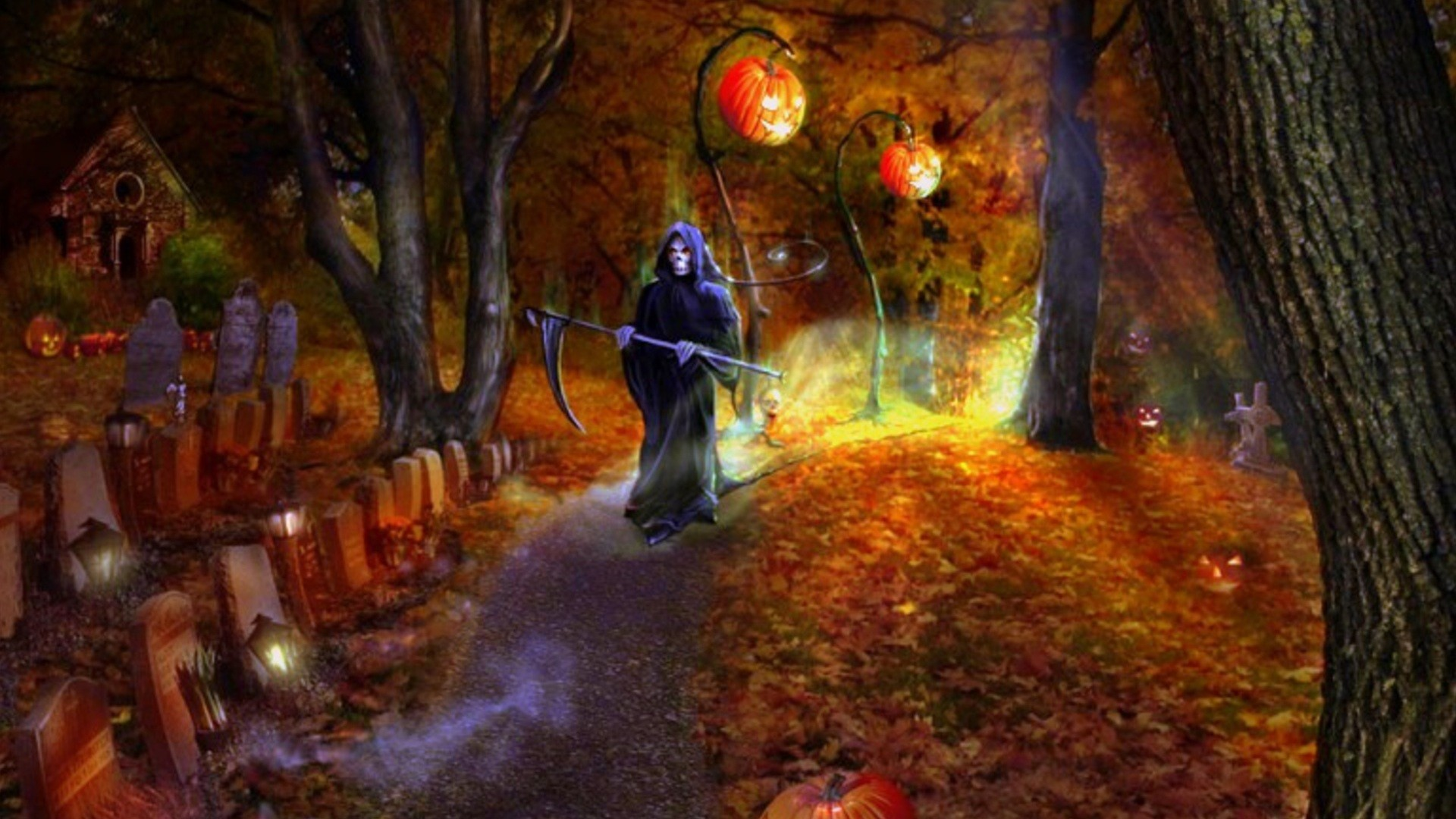 Scary Halloween Wallpapers and Screensavers (58+ images)