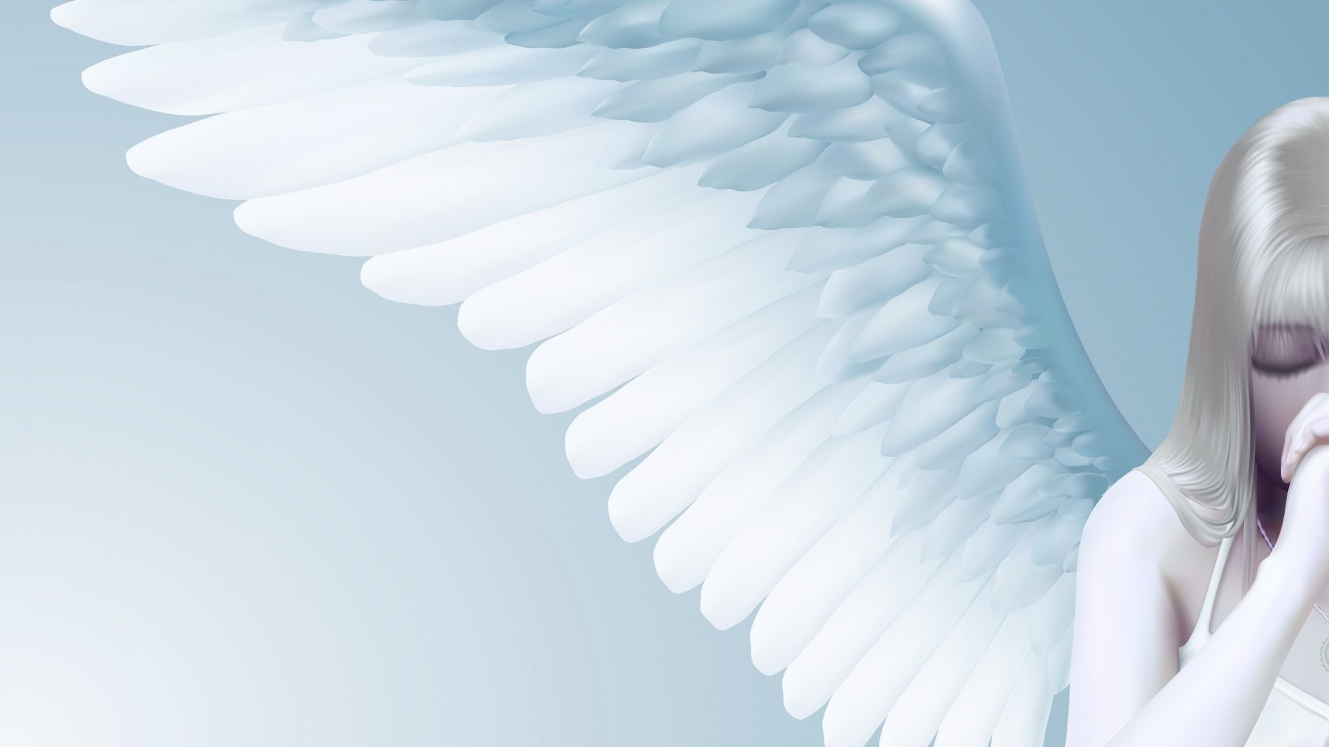 1920x1080 Preview wallpaper angel, girl, wings, light