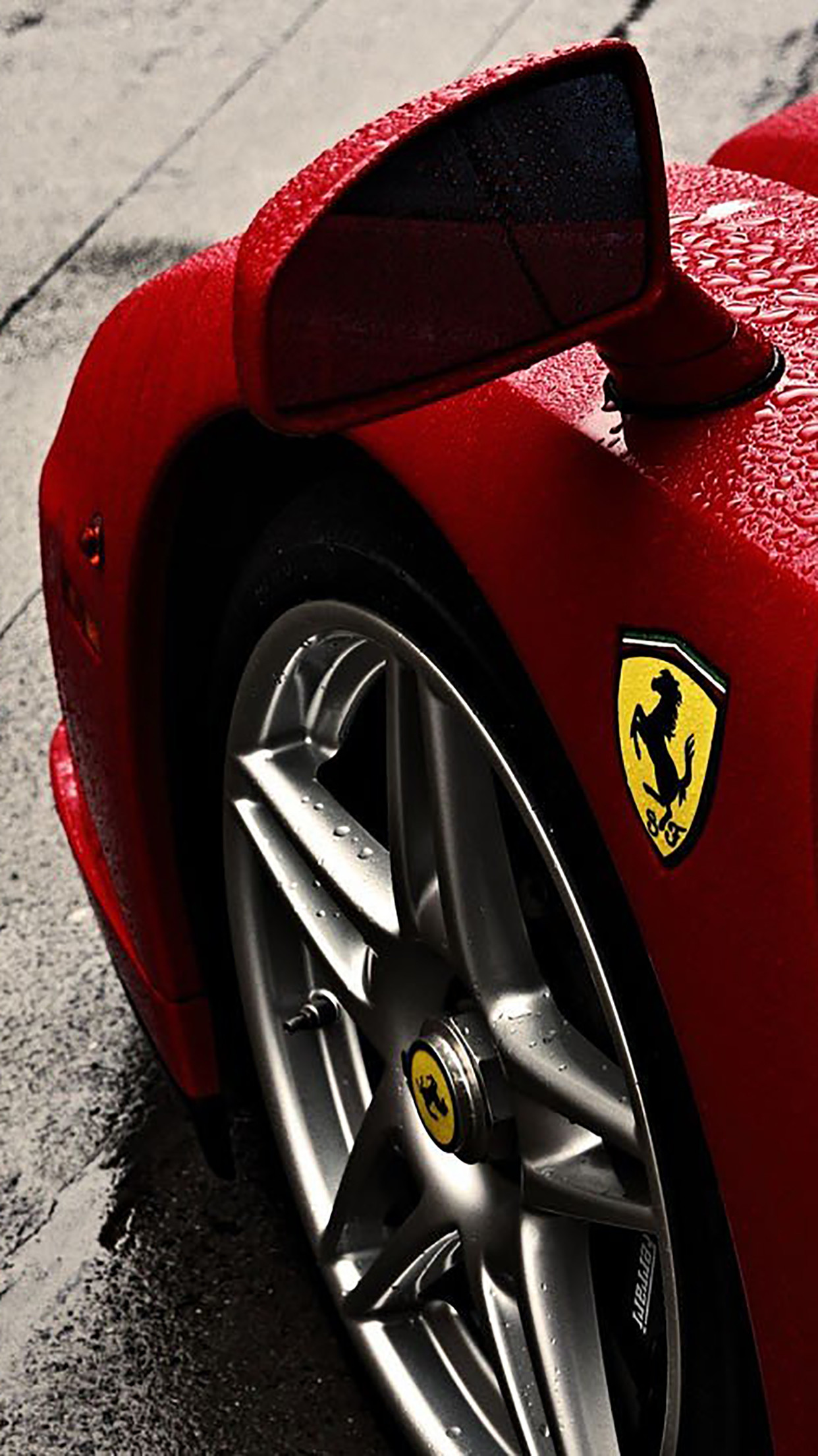 1242x2209 ferrari-enzo-ferrari-logo-rain-wheel-3wallpapers-iphone-