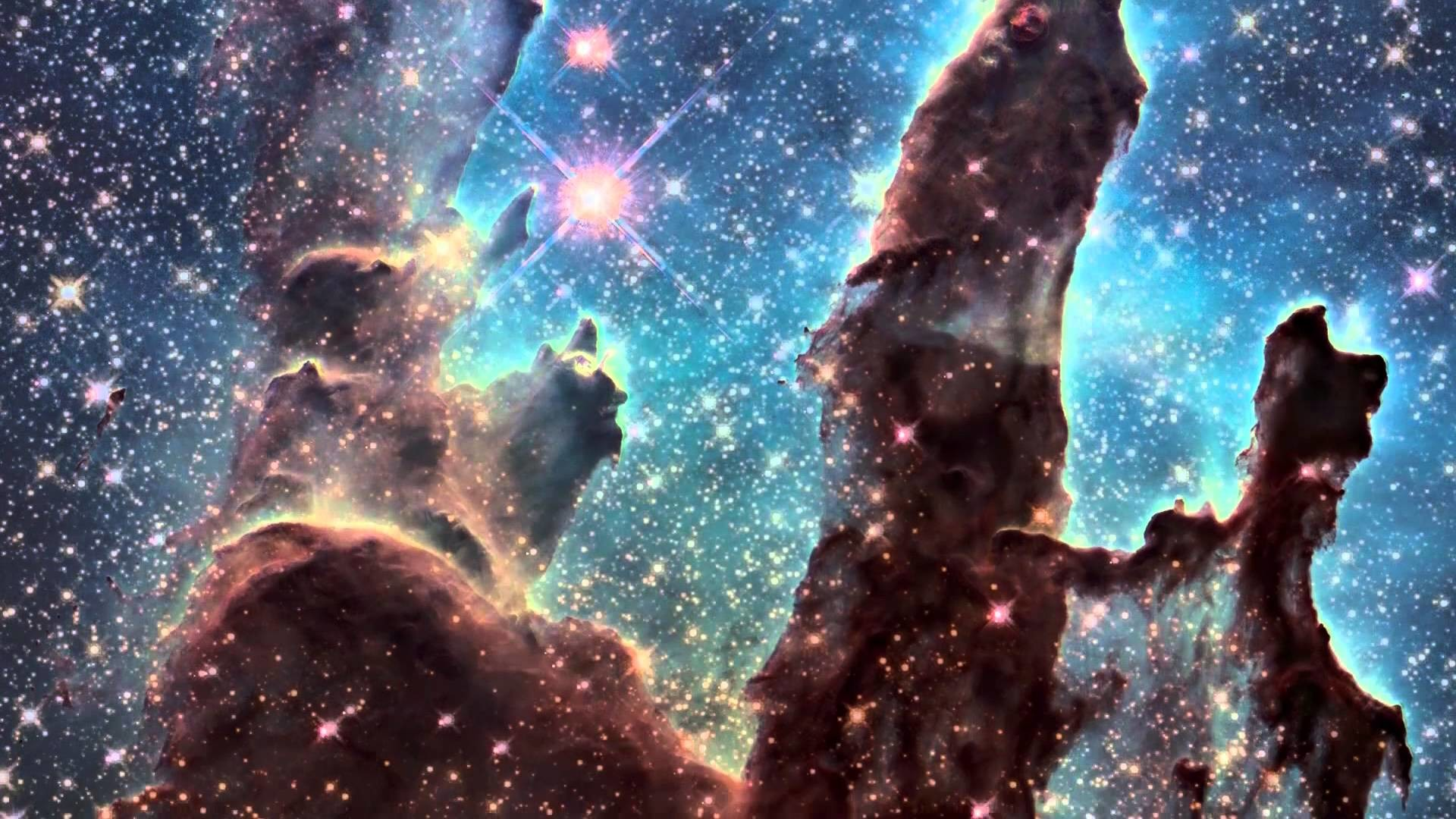 "1920x1080 ""Pillars of Creation"" iconic image from Hubble 2015 - YouTube"