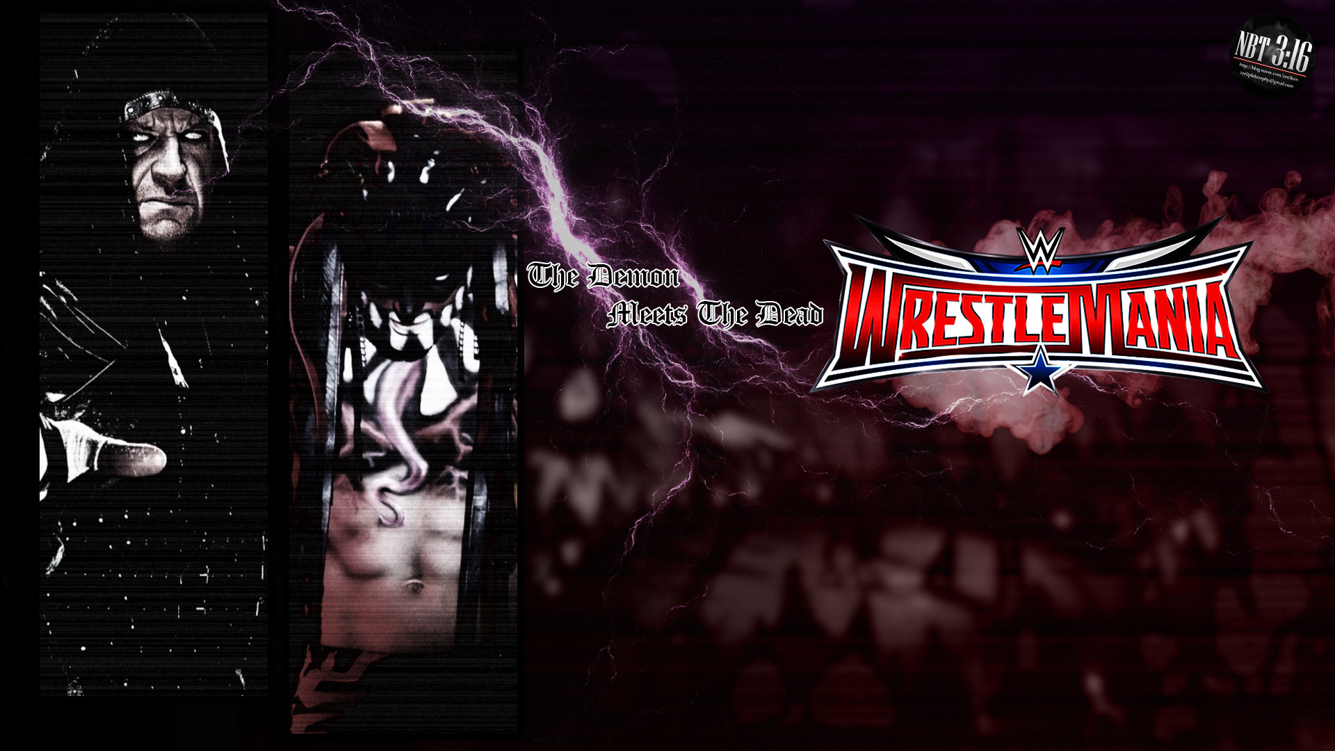 1920x1080 ... takezer0 The Undertaker vs. Finn Balor @ WrestleMania 32 by takezer0
