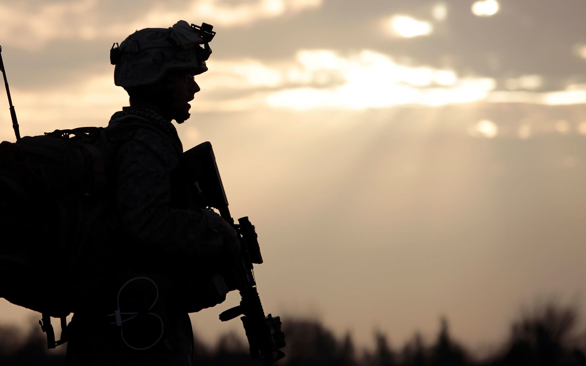 1920x1200 American Soldier In Afghanistan