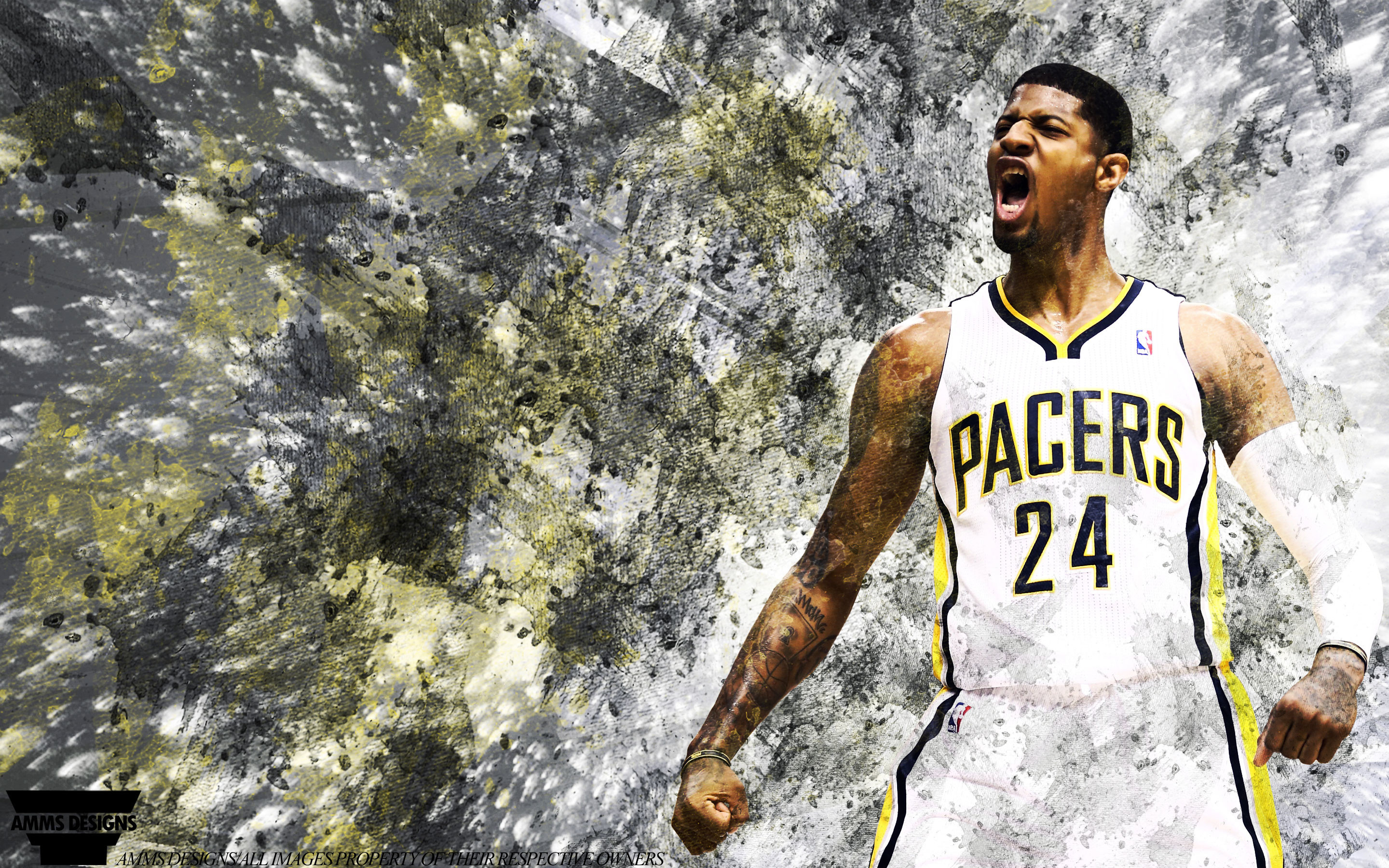 2880x1800 Paul George Pacers 2014 Wallpaper