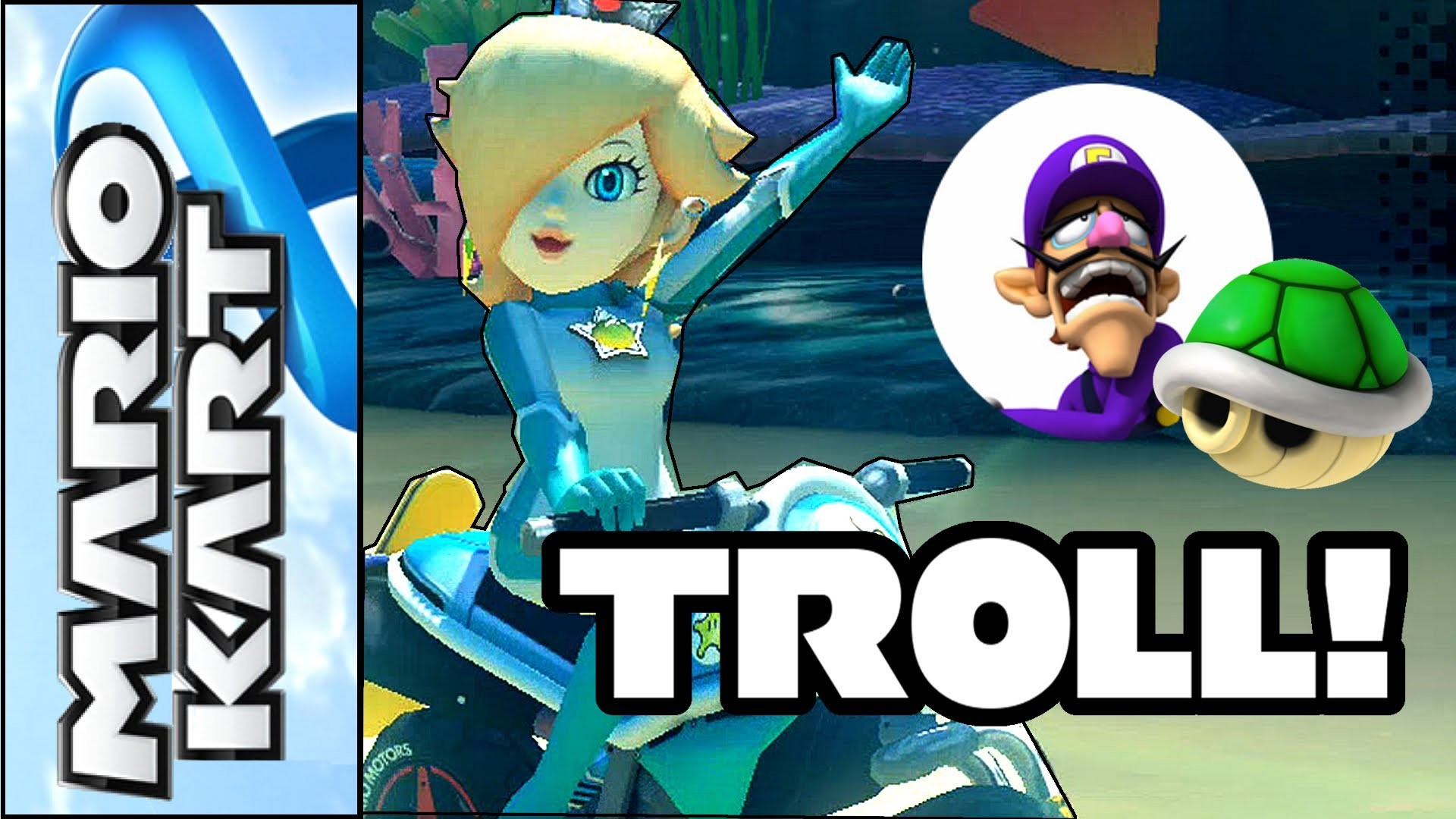 1920x1080 Mario Kart 8 - Rosalina trolls Waluigi at the Finish Line - Funny Moments  (Wii U Gameplay) - YouTube